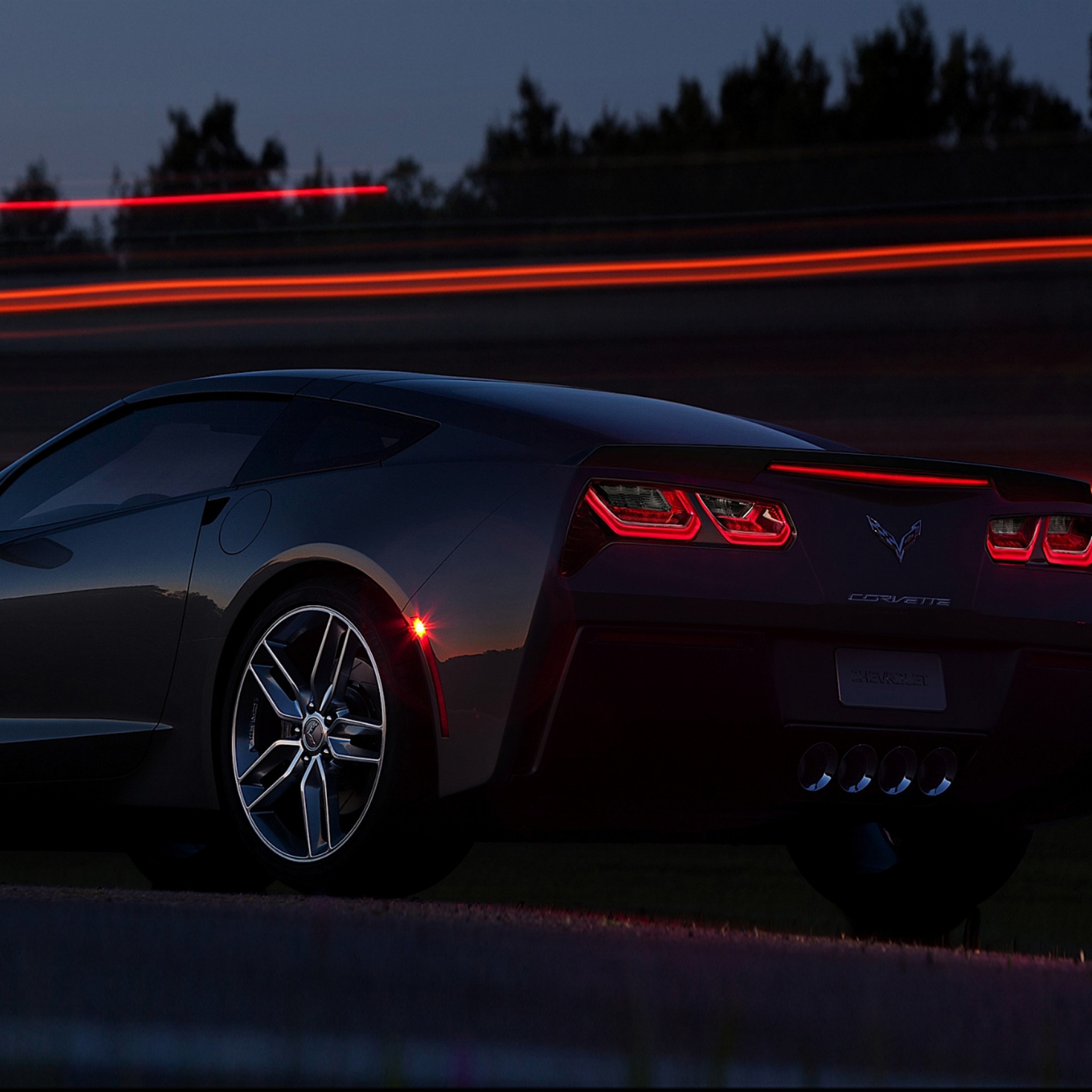 2048x2048  Wallpaper chevrolet, corvette, stingray c7