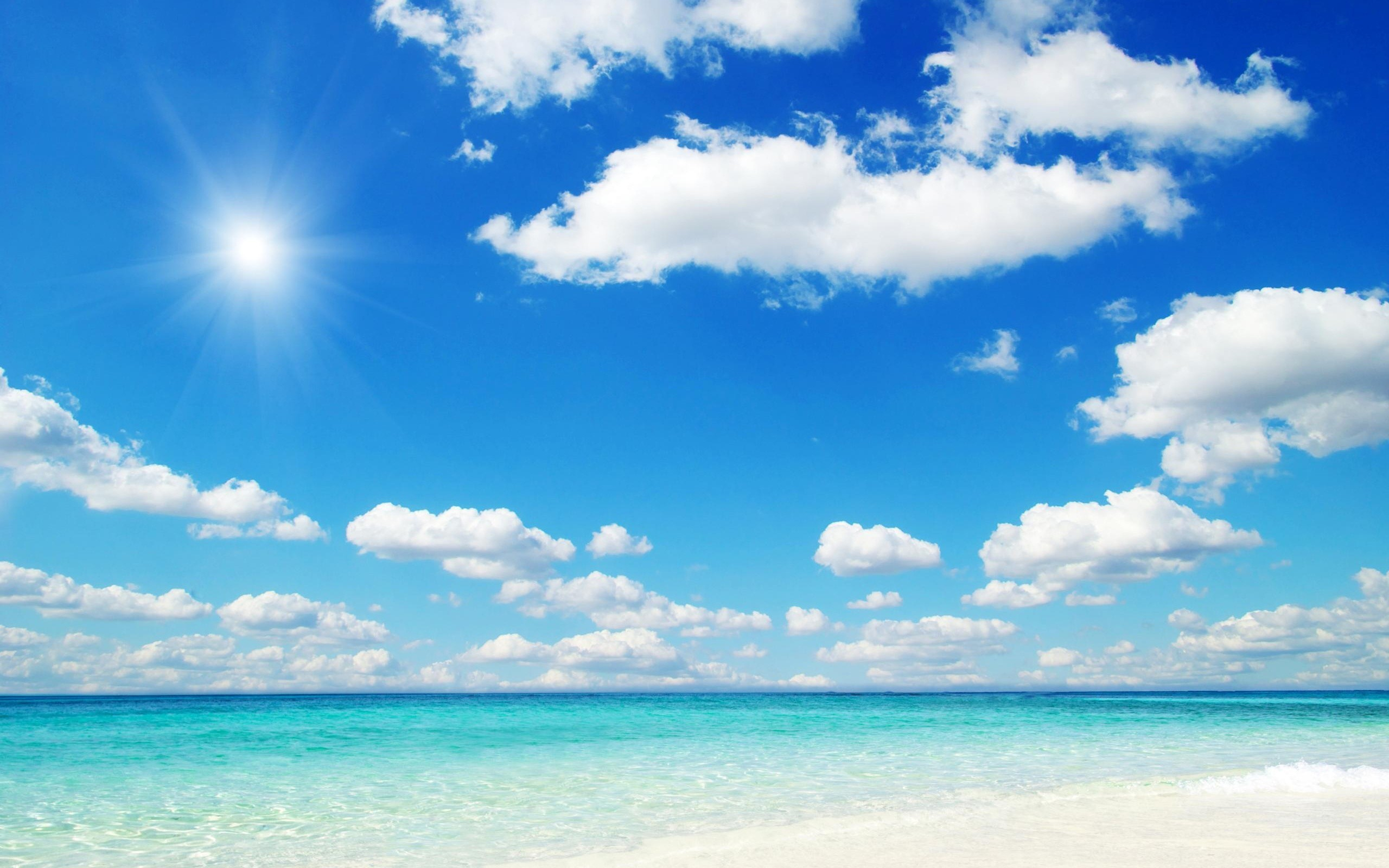 2560x1600 Beach blue sky wallpaper