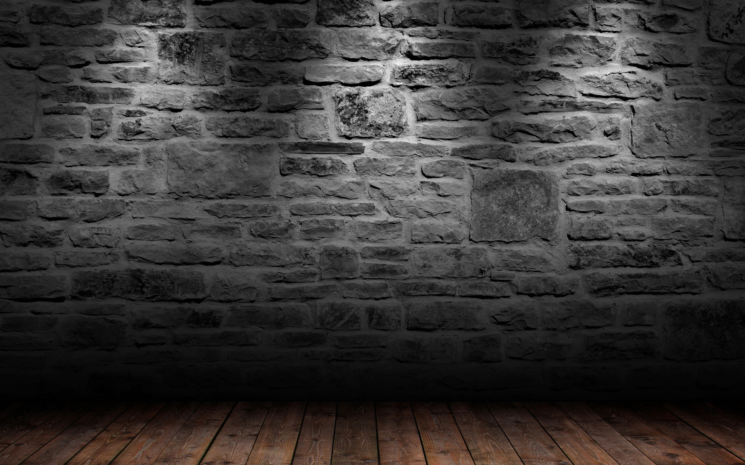 2560x1600 stone and wood 3D wallpaper