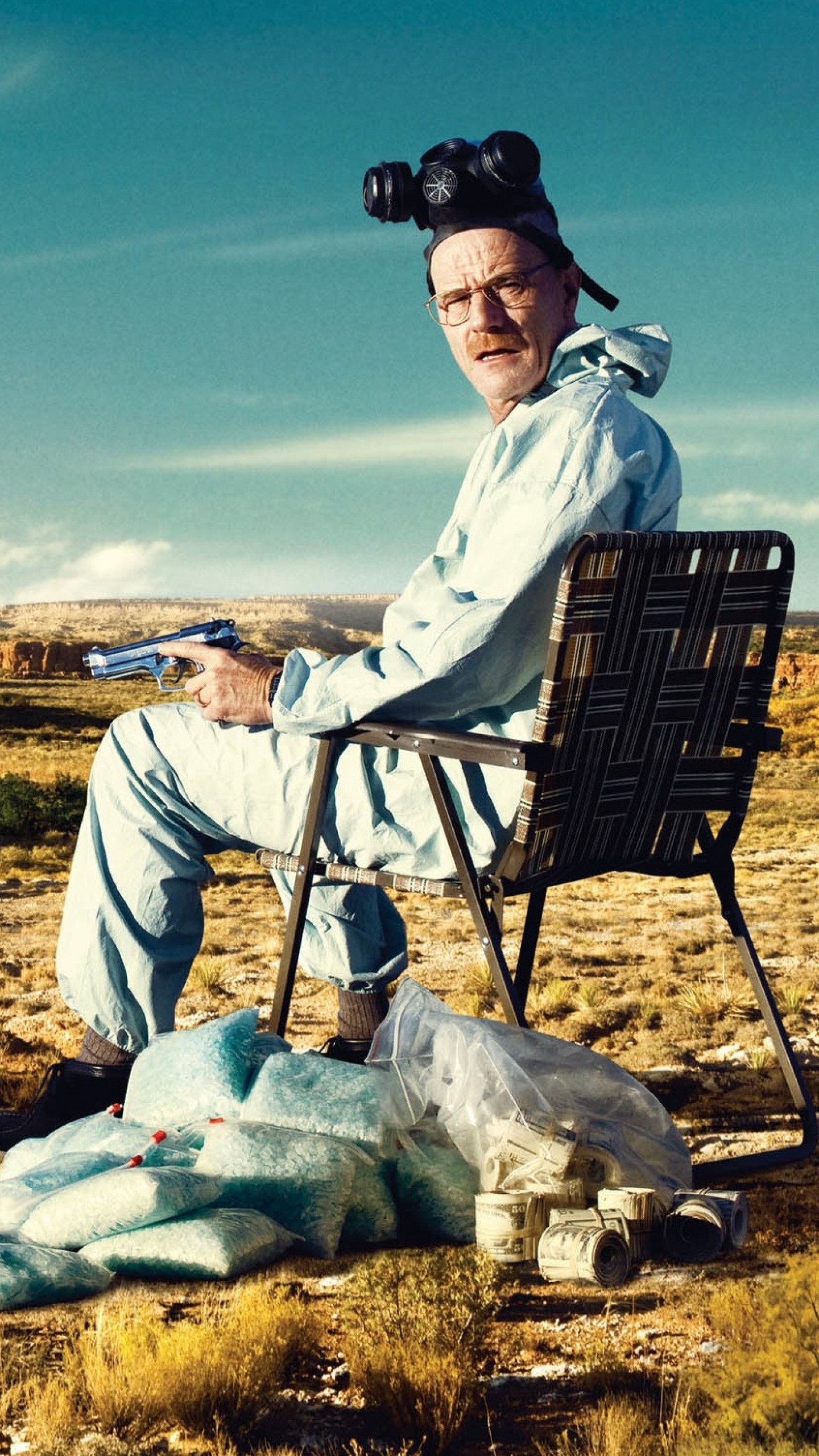 1440x2560 Preview wallpaper breaking bad, bryan cranston, aaron paul, drugs, money