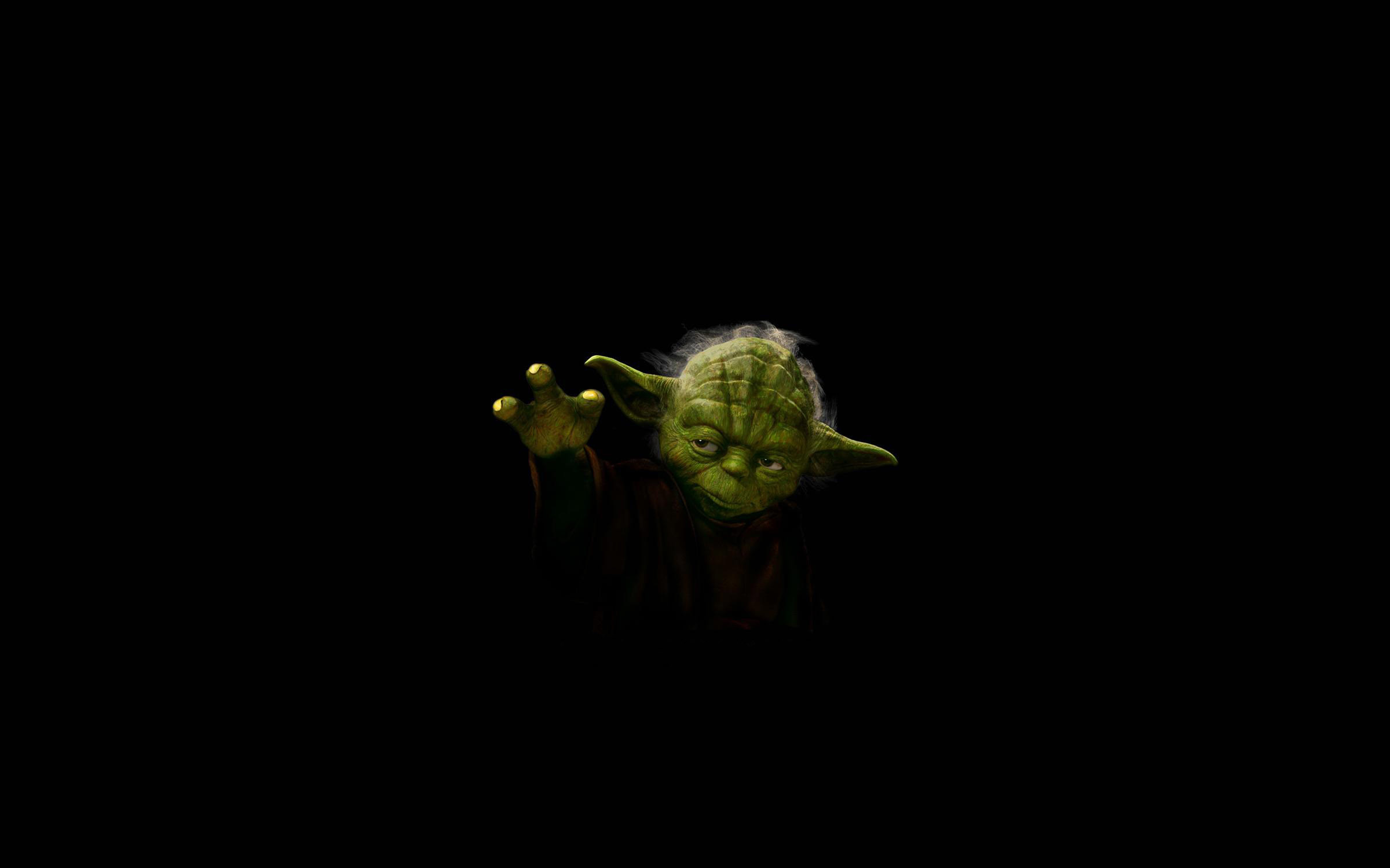 2400x1500 star wars minimalistic jedi yoda HD Wallpaper - Movies & TV (#864411)