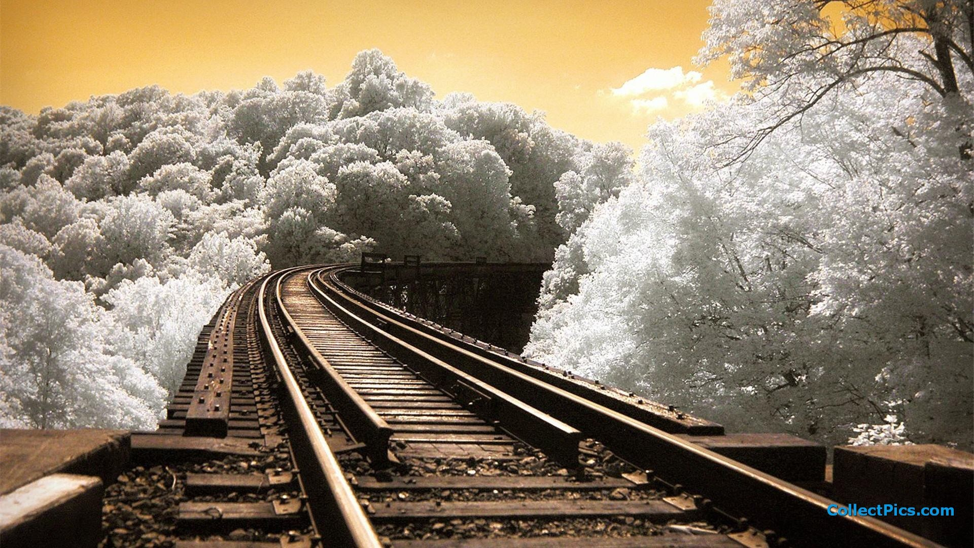 1920x1080 Wallpapers Hd Backgrounds Images Pics Photos: Train Track Wallpaper (74+ Images