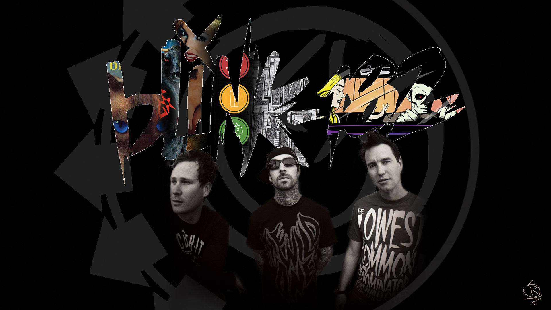 1920x1080 ... Blink-182 Albums Poster (Tom DeLonge) by SebastianR115