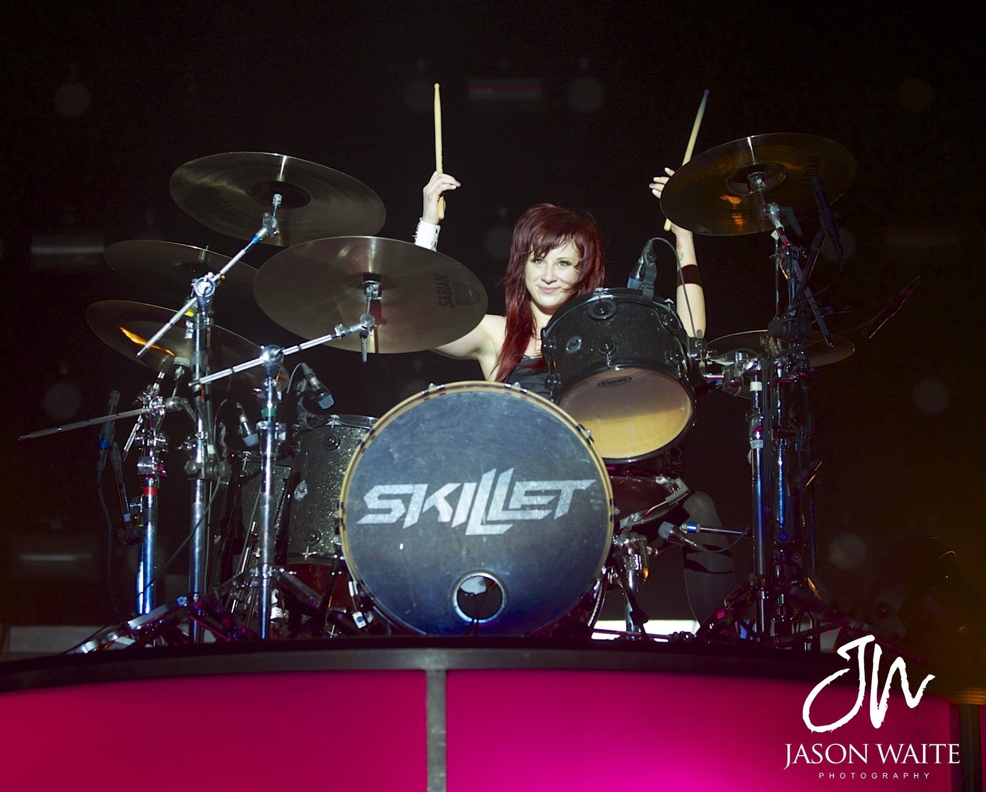 1920x1542  Jen Ledger, Skillet (band), Drummer, Hard rock