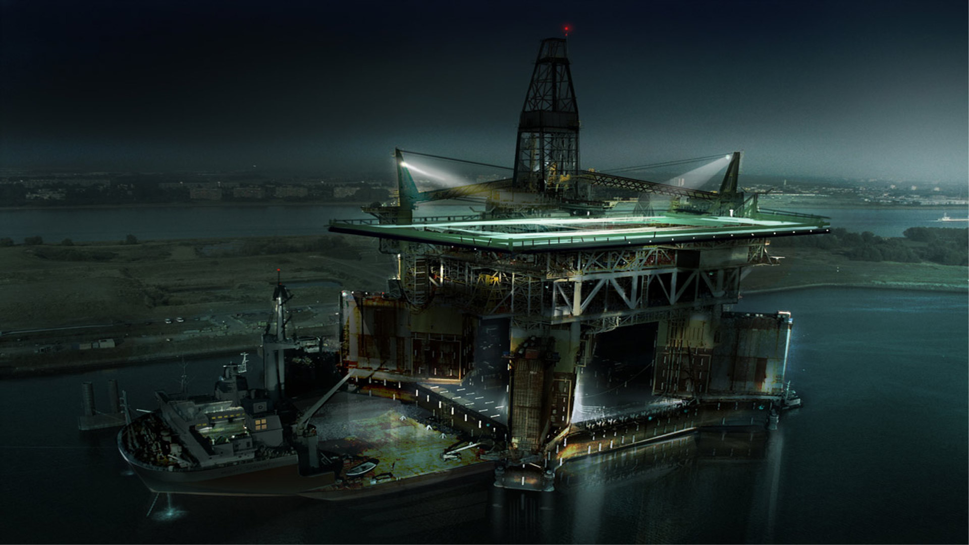 1920x1080 Oil Oilrig Wallpaper  Oil, Oilrig