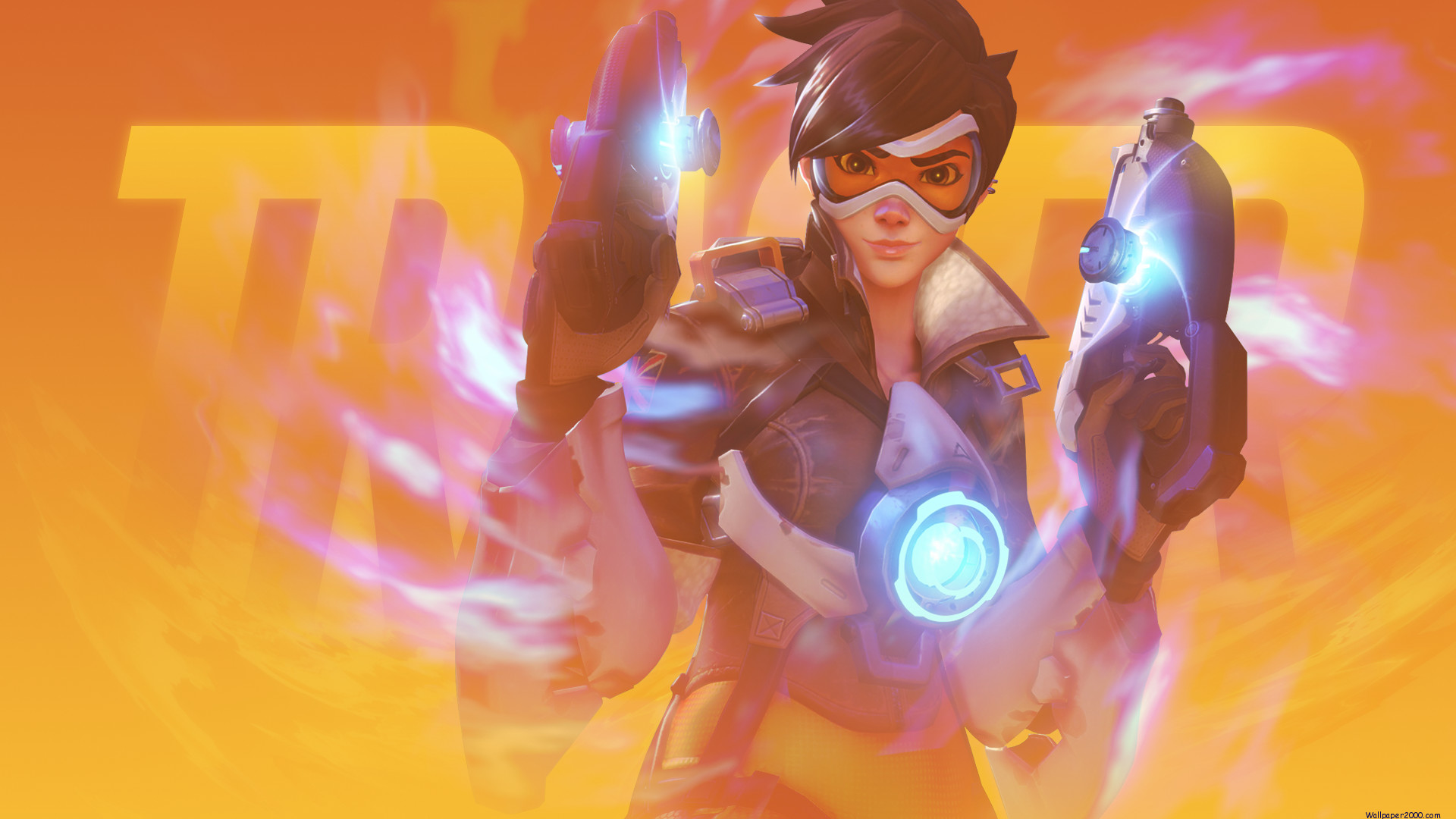 1920x1080 Overwatch Tracer Wallpaper
