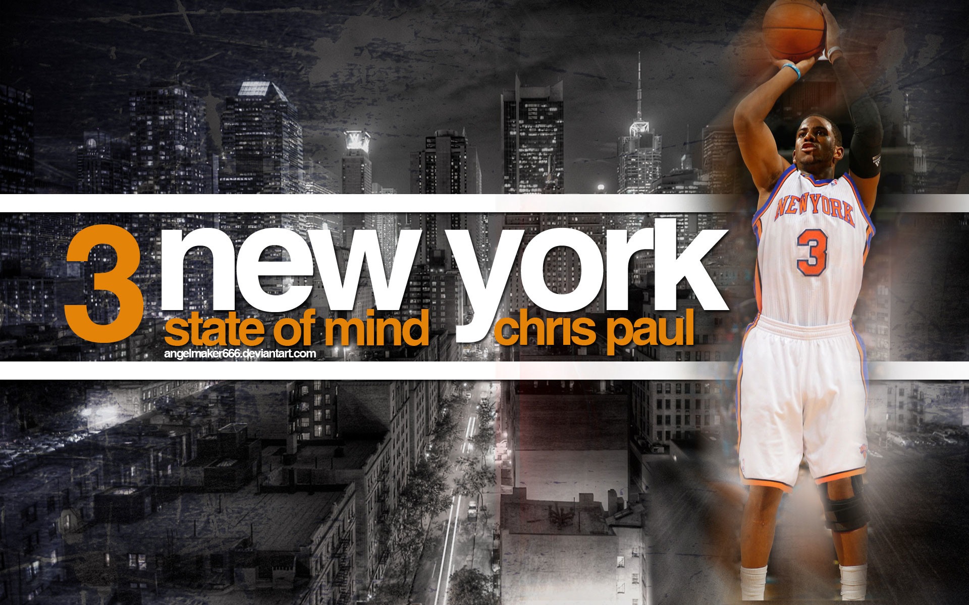 1920x1200 Chris Paul New York Knicks Widescreen Wallpaper