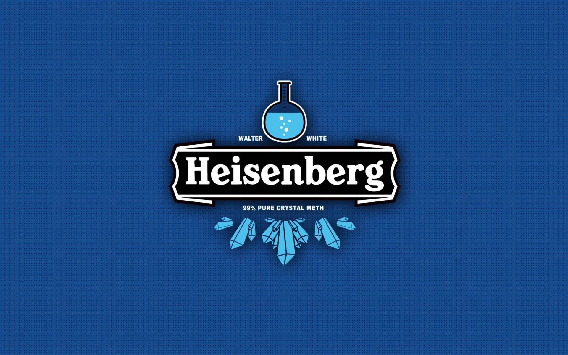 1920x1200 blue, Heisenberg, Typography, Blue Background, Breaking Bad Wallpapers HD /  Desktop and Mobile Backgrounds