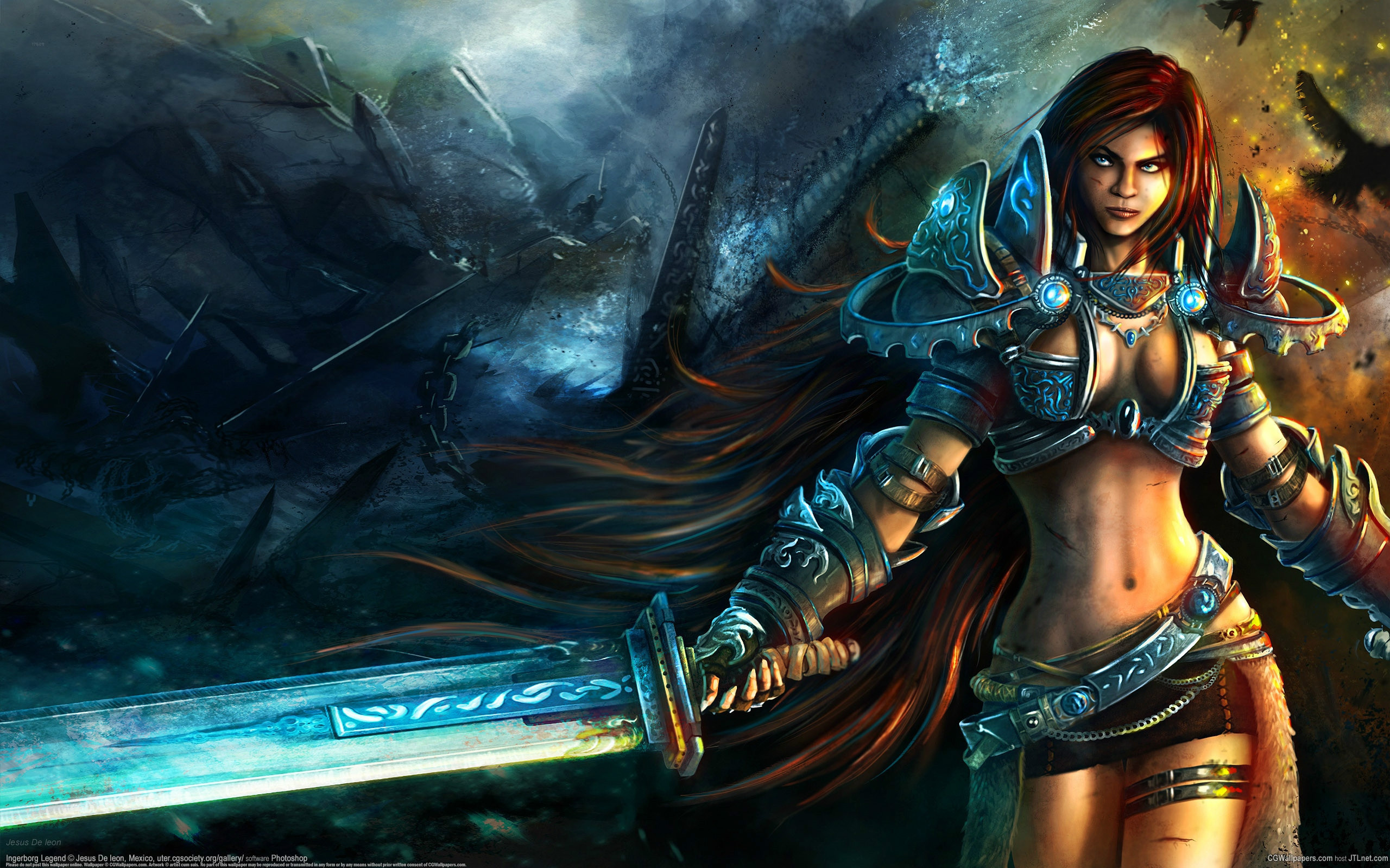 Anime Inspired Hd Fantasy Wallpapers For Your Collection: Fantasy Warrior Women Wallpaper (78+ Images