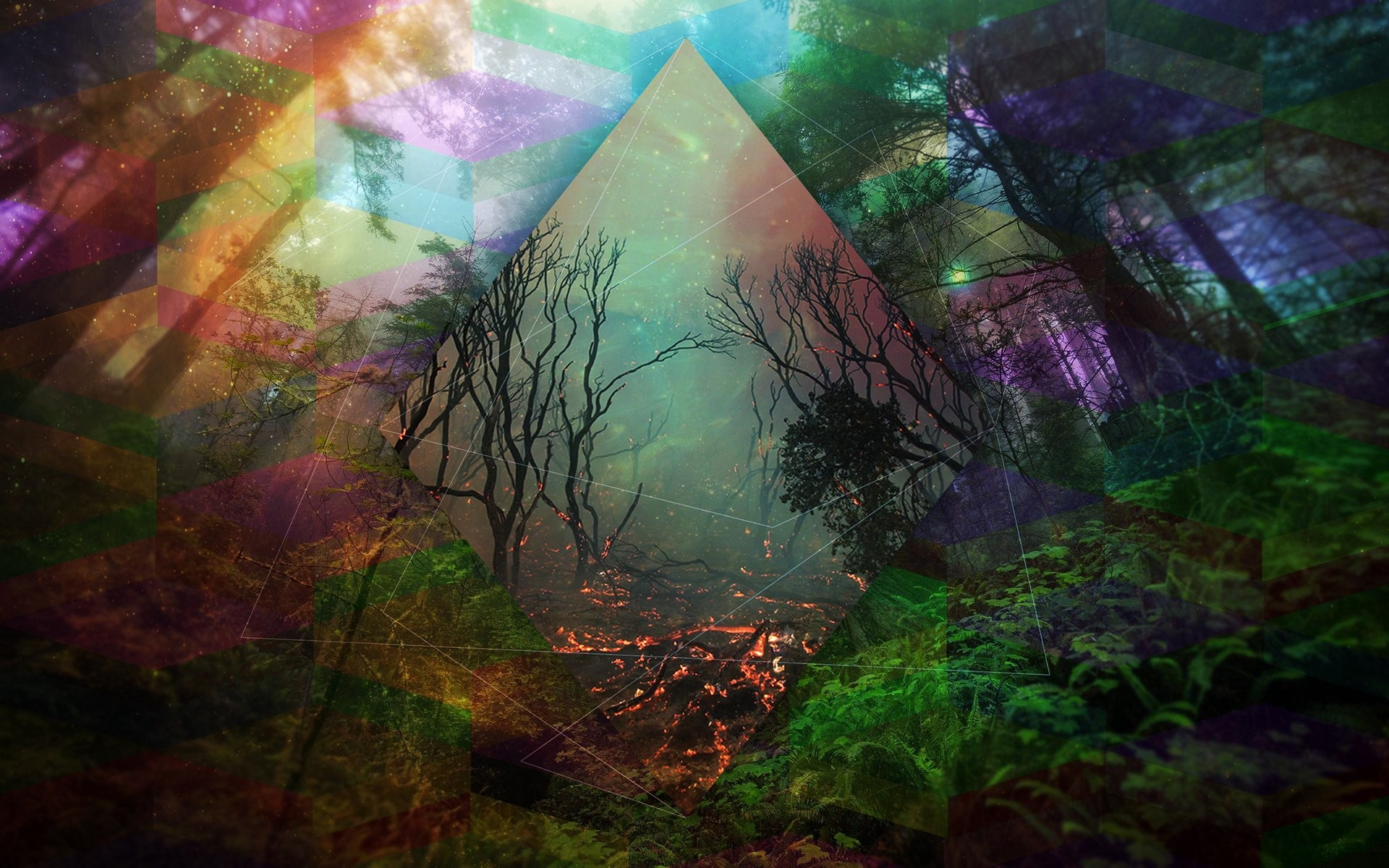 Trippy wolf wallpapers 66 images - Trippy nature wallpaper ...