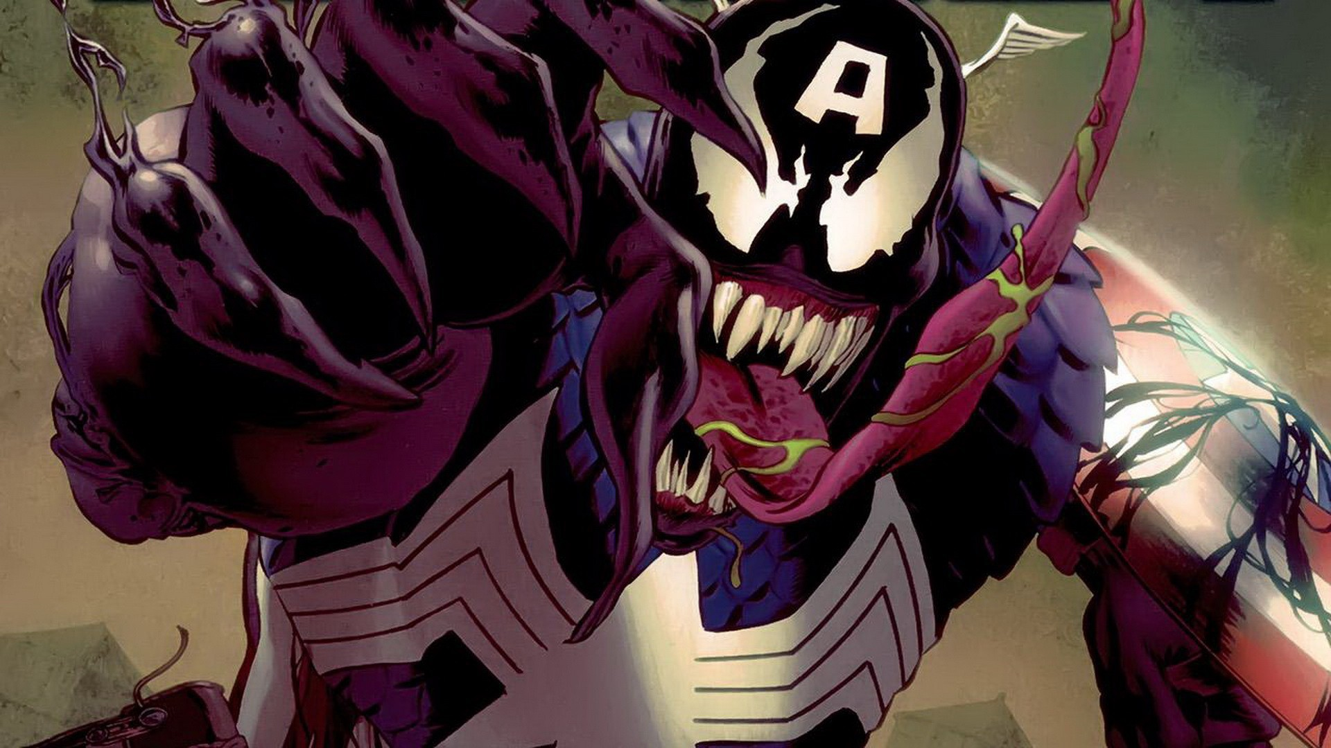 1920x1080 Comics Venom Captain America villains Marvel Comics wallpaper |  |  223378 | WallpaperUP
