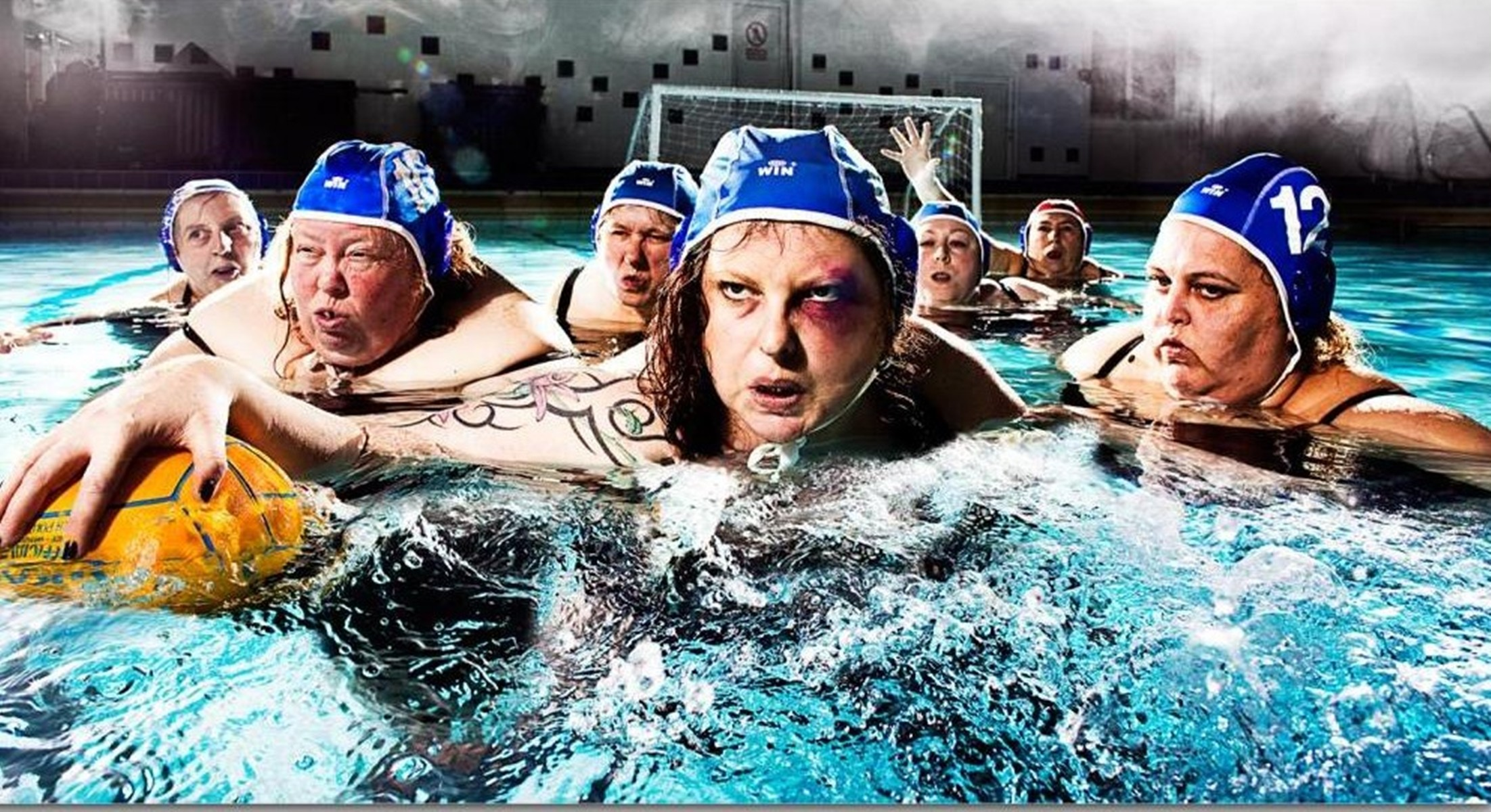 2203x1200 Download Wallpaper pool the ball water polo, , Water polo (humor)
