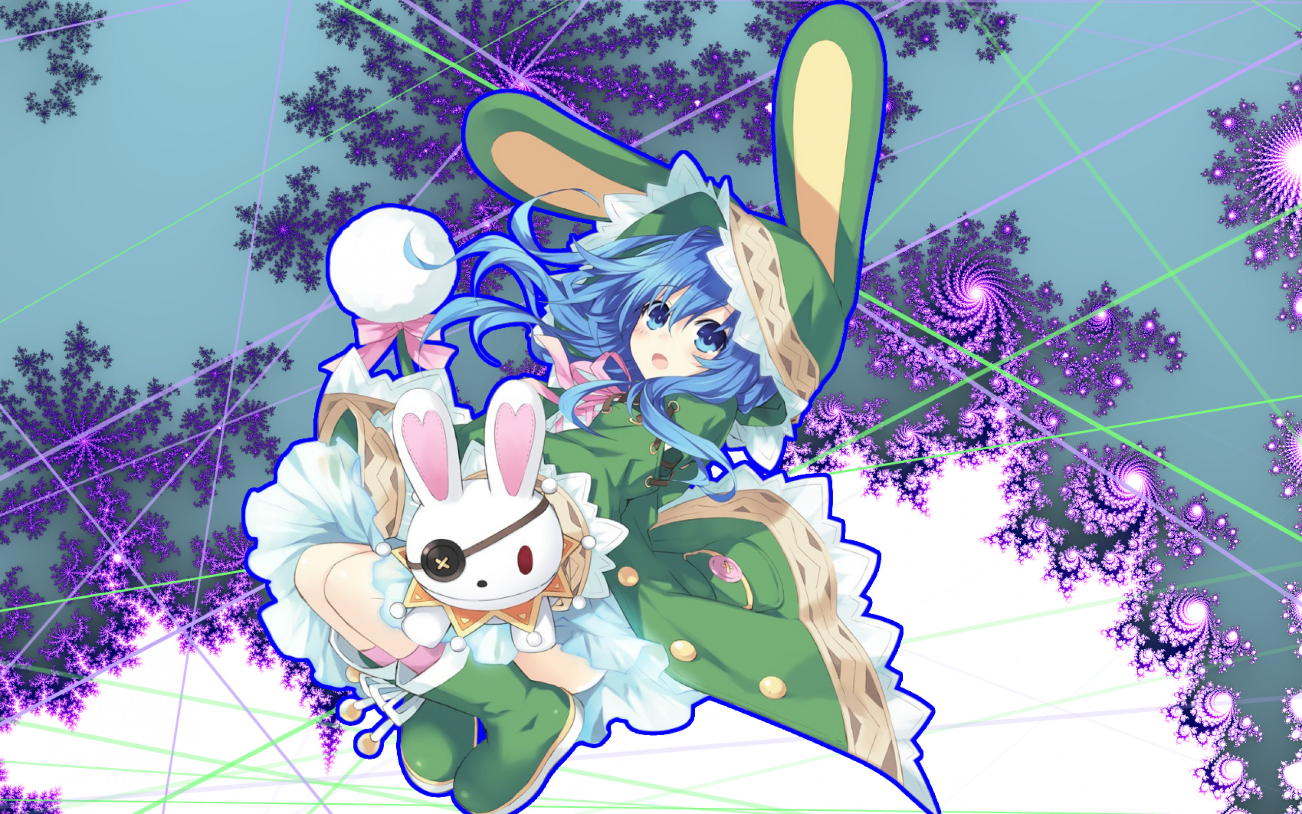2560x1600 Date A Live, Yoshino, Loli, Blue Hair