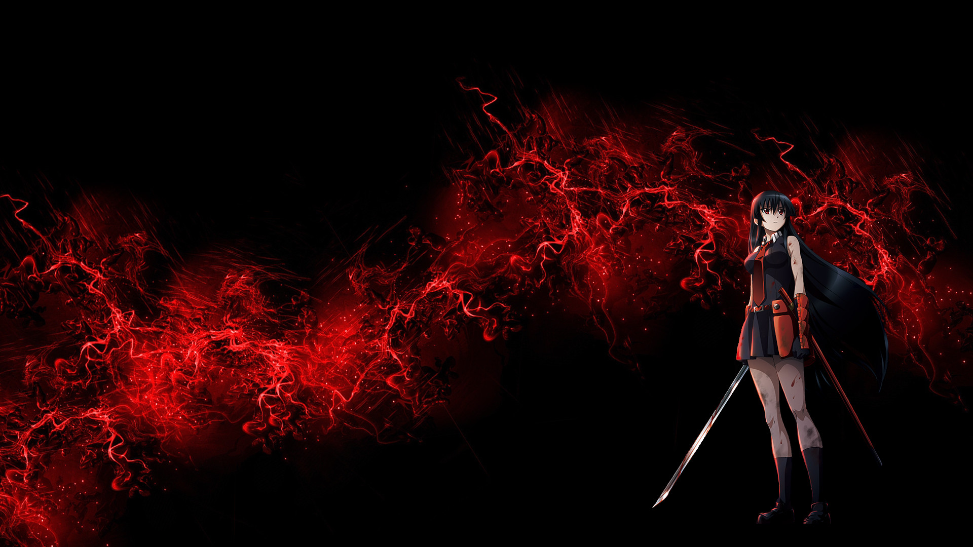 Red and black anime wallpaper 72 images - Anime wallpaper black background ...