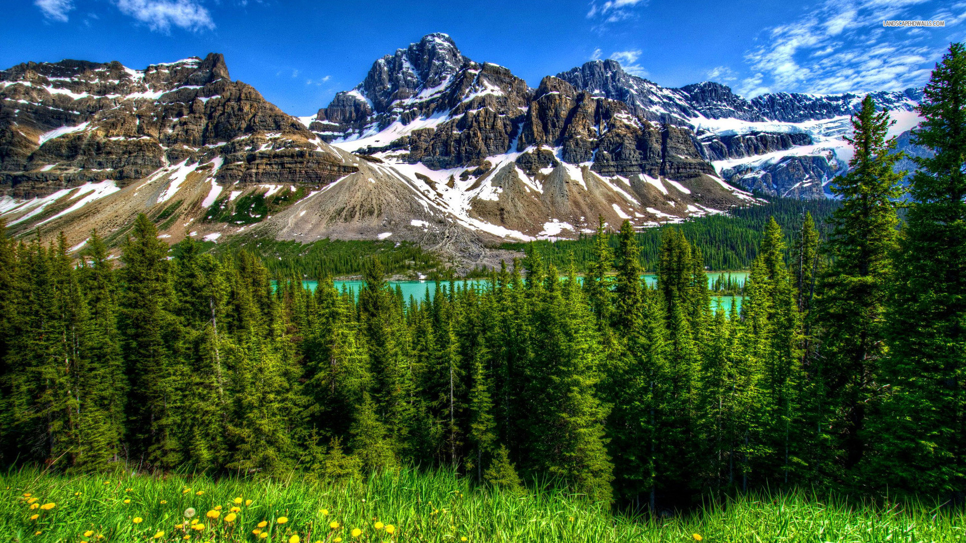 1920x1080 hd nature wallpaper banff national park