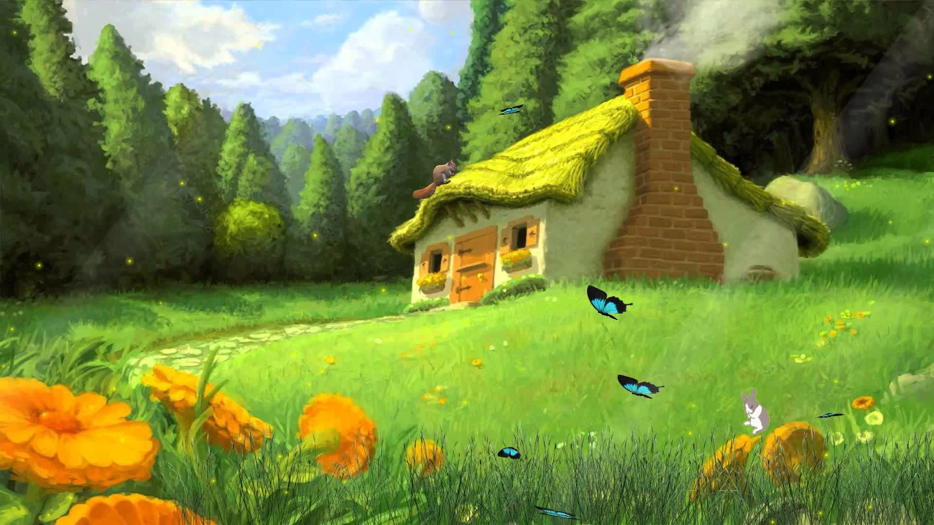 1920x1080 Tale Houses Animated Wallpaper http://www.desktopanimated.com/ - YouTube