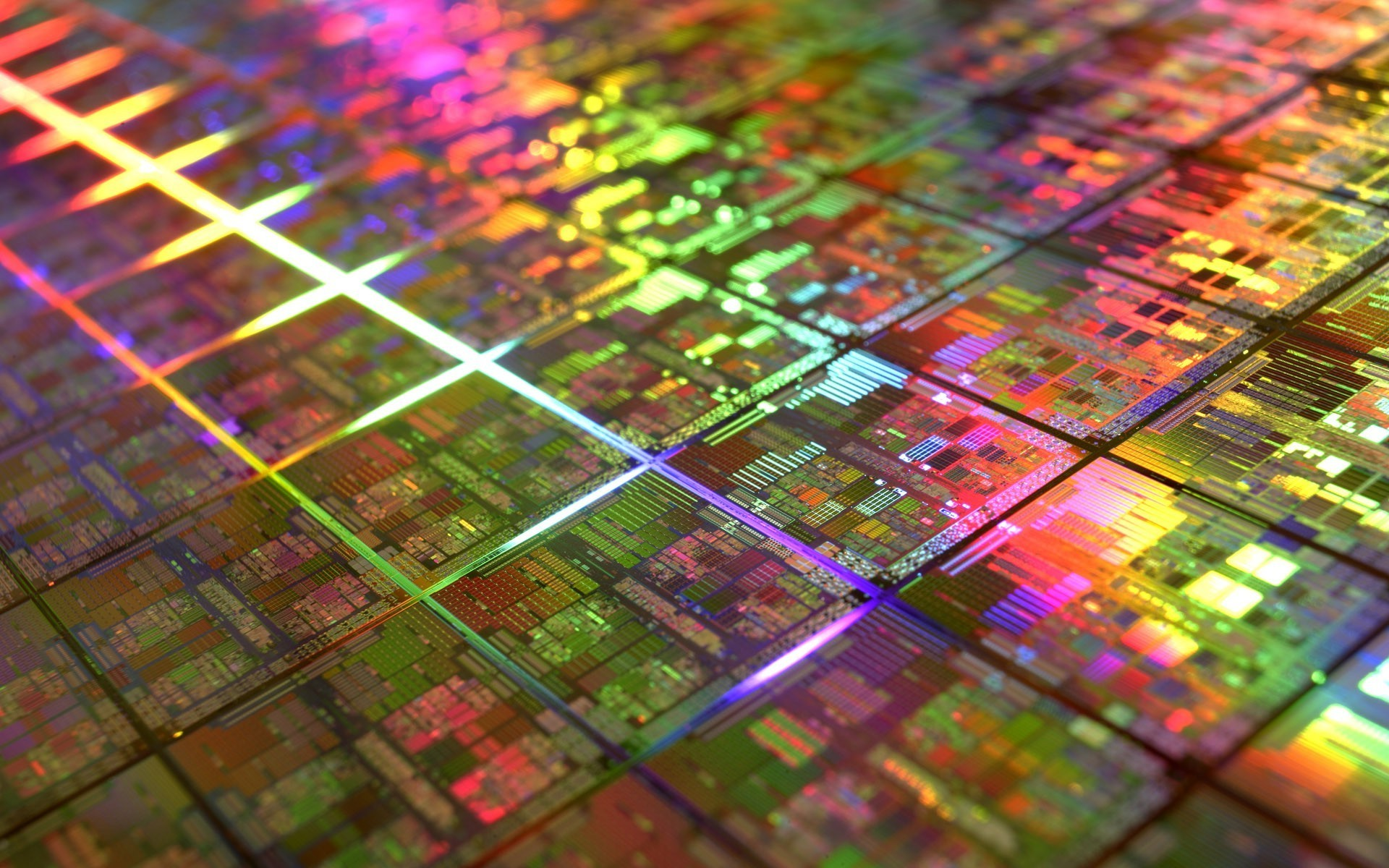 1920x1200 colorful, Microchip, DIE, Gold, Technology, Geometry, IT, CPU Wallpapers HD  / Desktop and Mobile Backgrounds