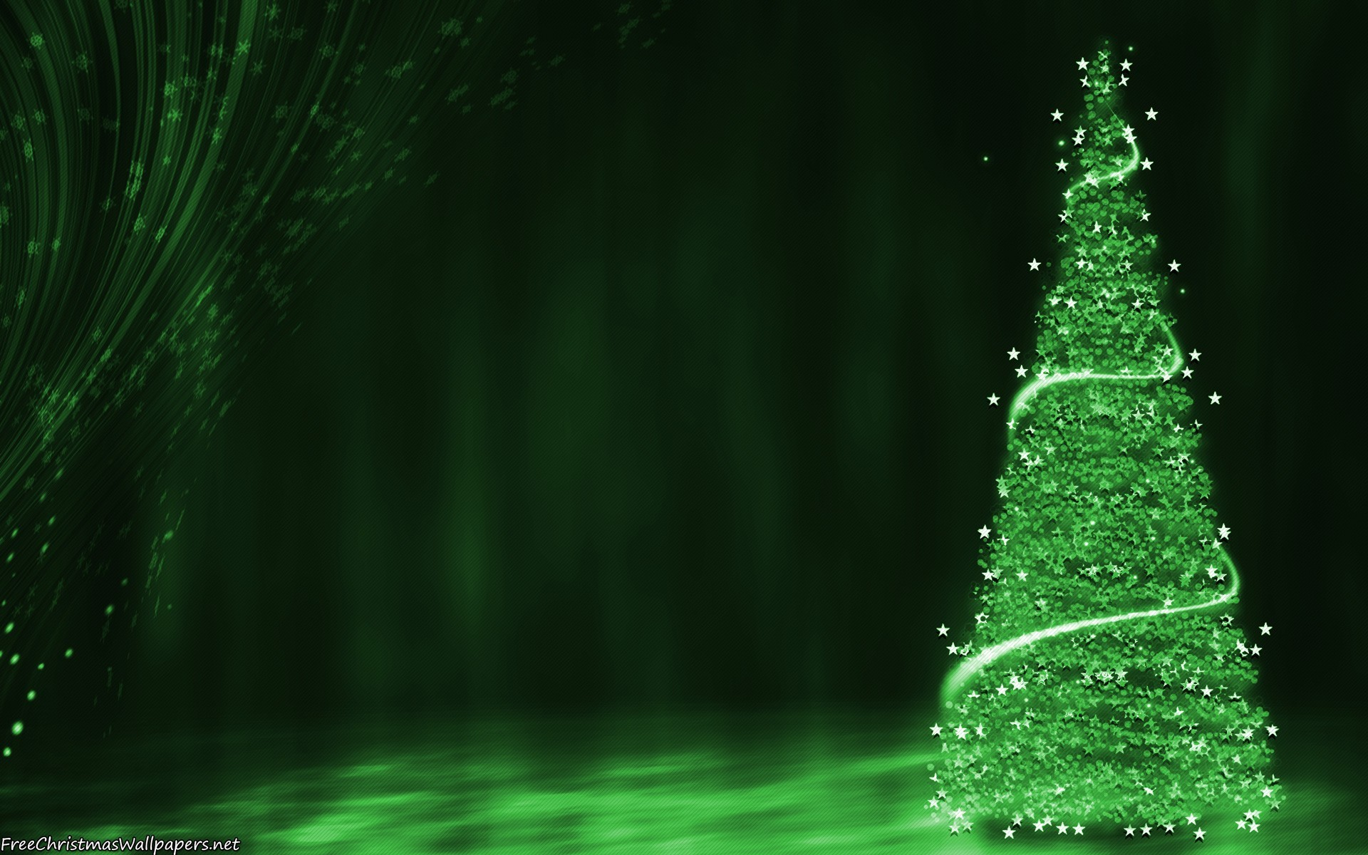 1920x1200 Green Christmas Tree Background Wallpaper Download