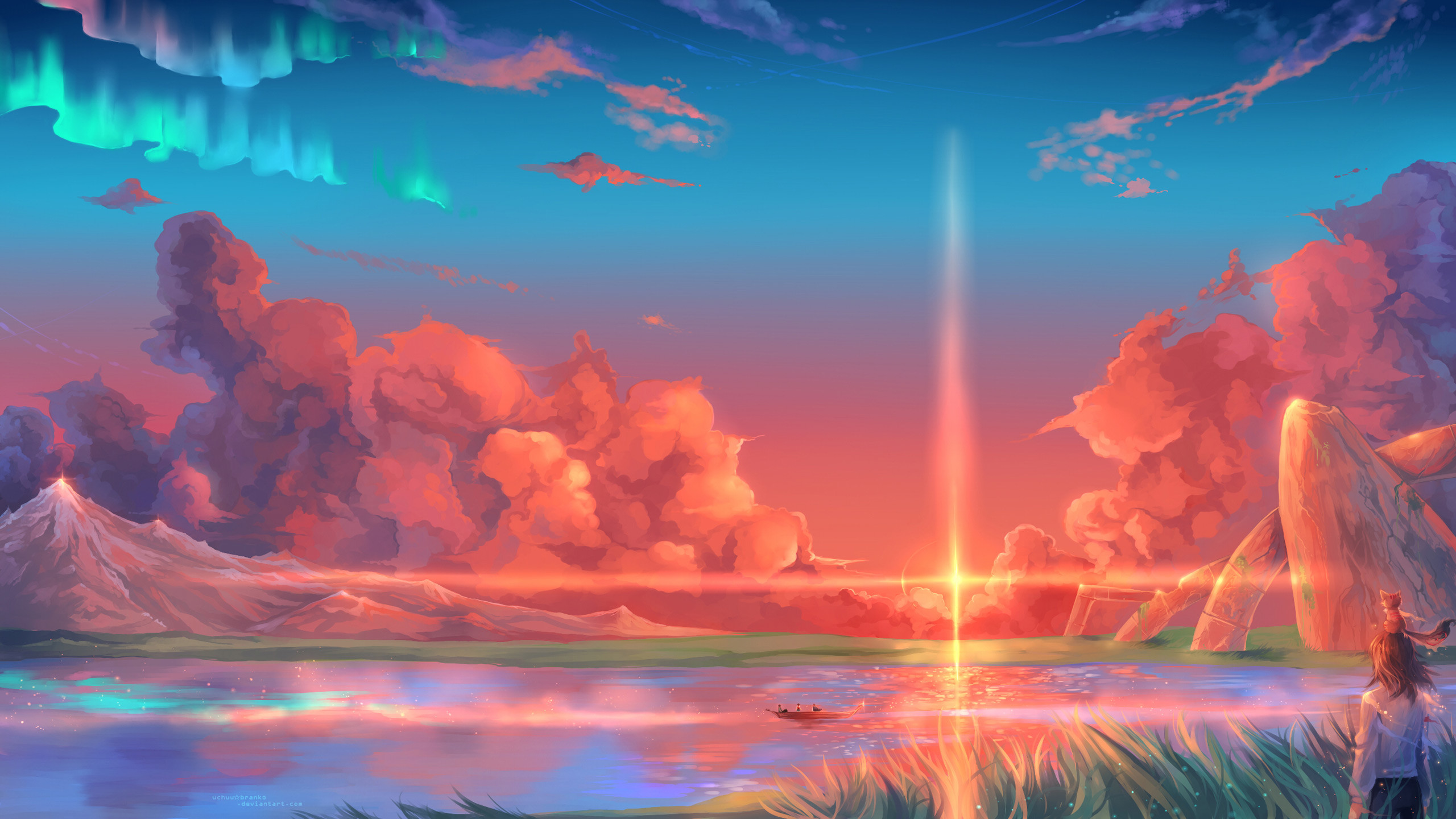 2560x1440 Anime Fantasy Landscape Wallpapers For Android For Free Wallpaper