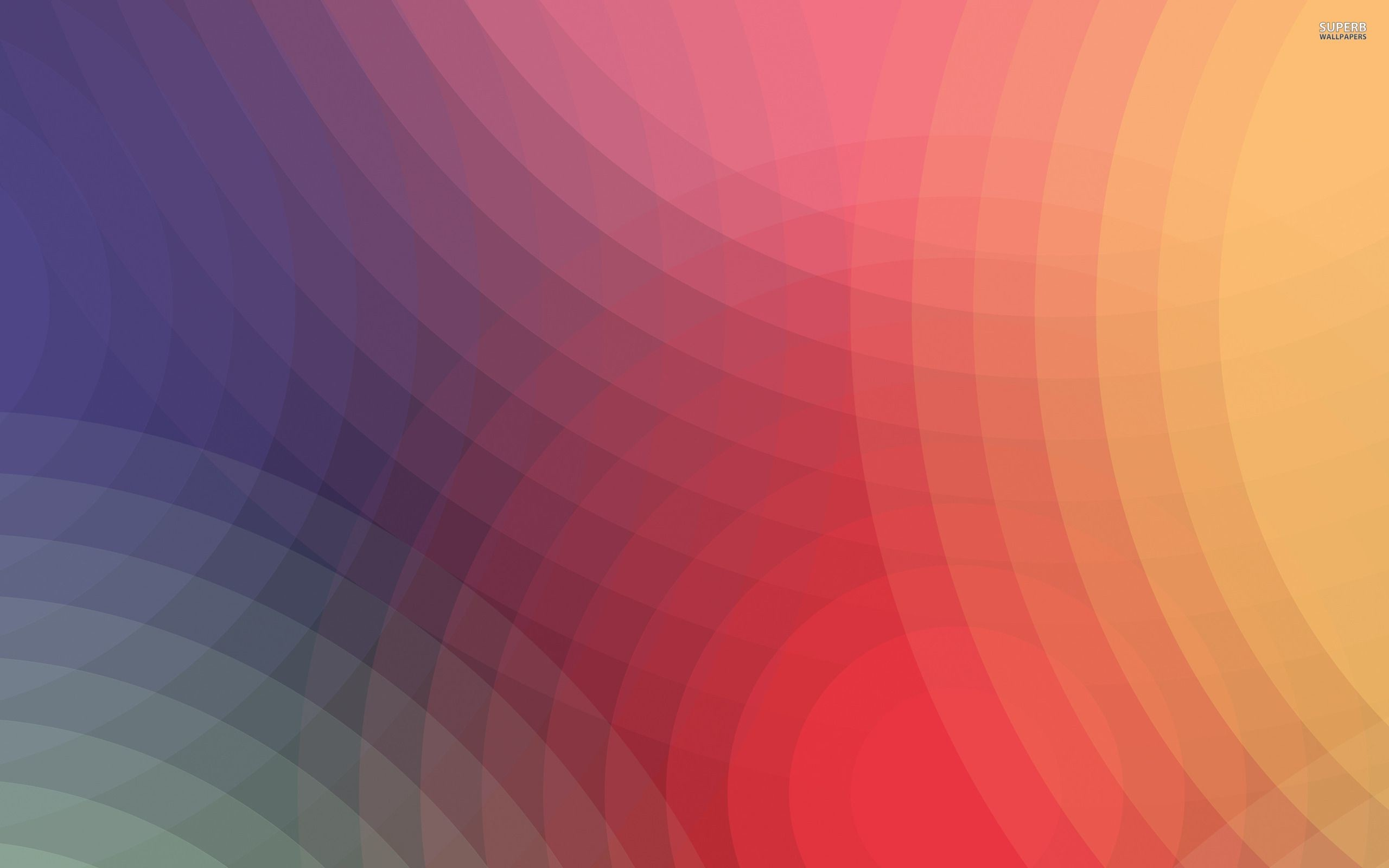 2560x1600 Rainbow colored circles wallpaper - Abstract wallpapers - #17720