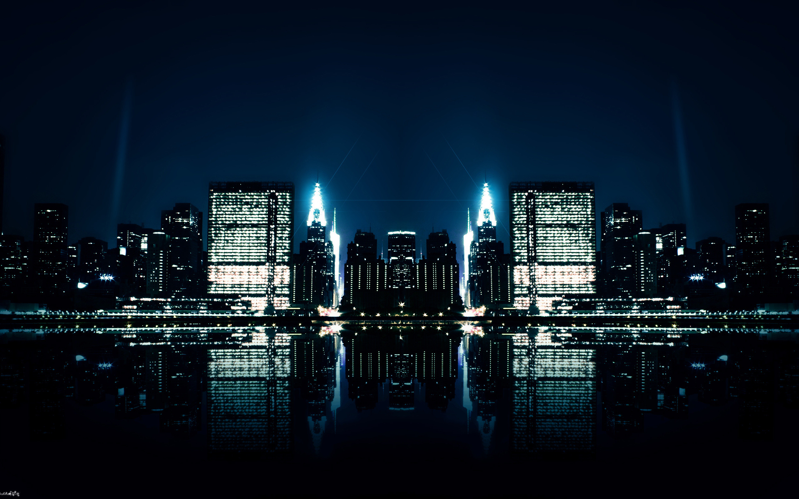 2560x1600 City Night Reflections Wallpapers | HD Wallpapers