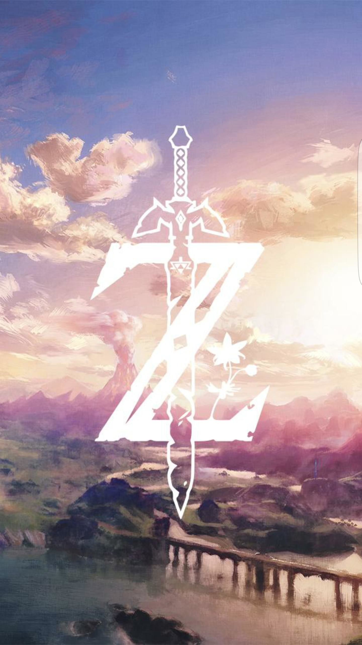 1440x2560 Can anyone find a wallpaper with just the Z and the Mastersword trough It  from the botw logo like In the picture in HD?
