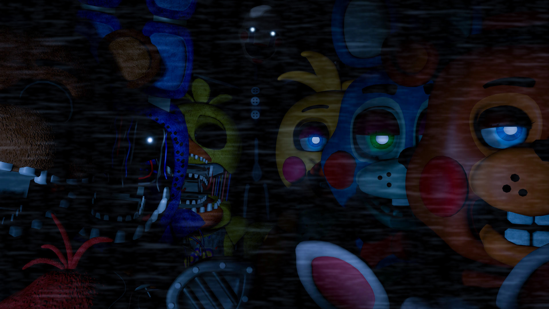 1920x1080 Fnaf Etc., Sister Location, Toy, Search, Friends, Places