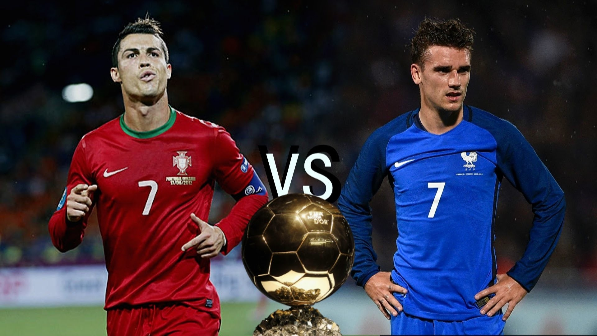 1920x1080 Cristiano Ronaldo vs Antoine Griezmann - Ballon D'Or Battle | 1080p HD -  YouTube