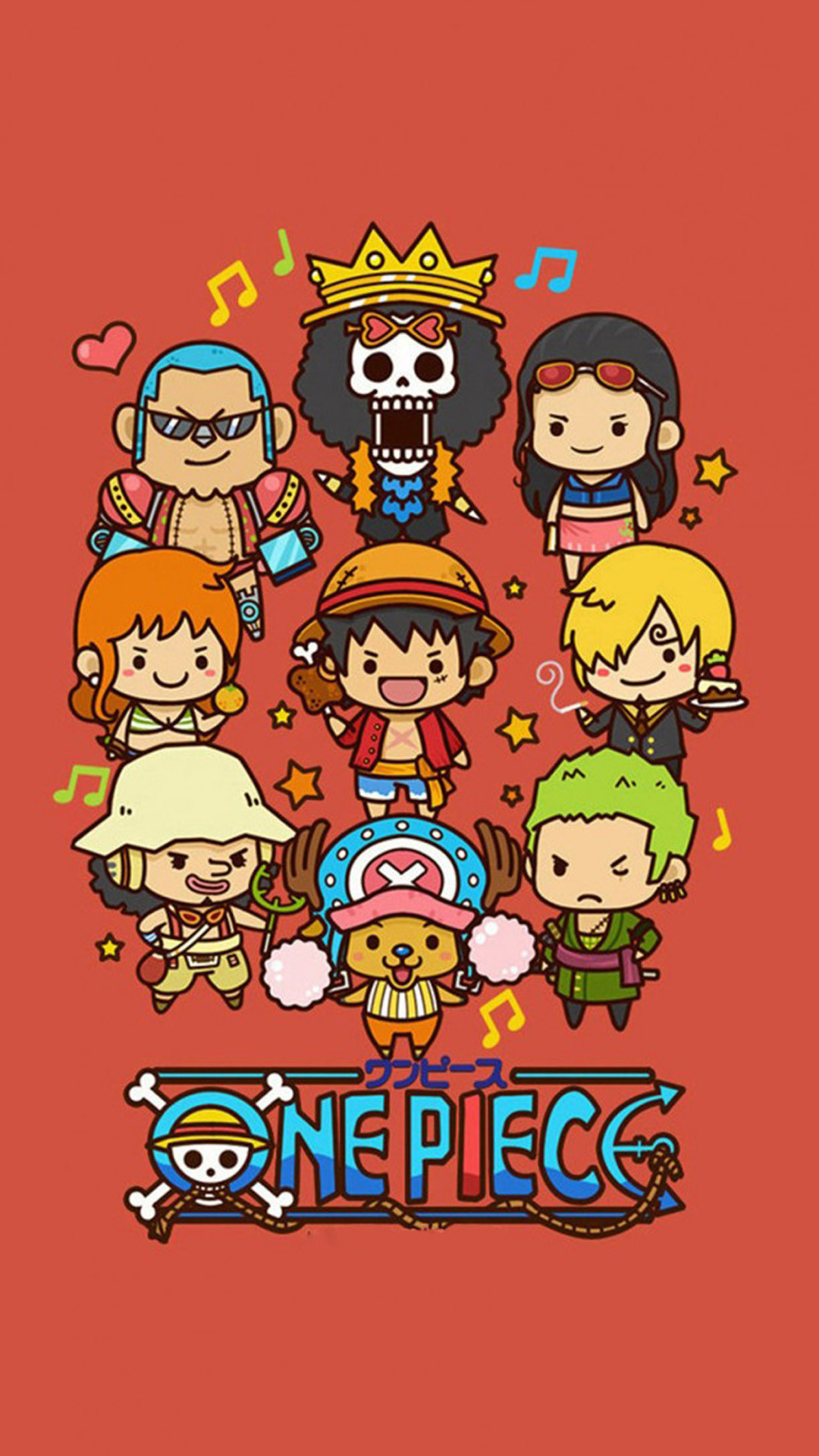 1080x1920 Cute Lovely One Piece Cartoon Poster iPhone 6 wallpaper