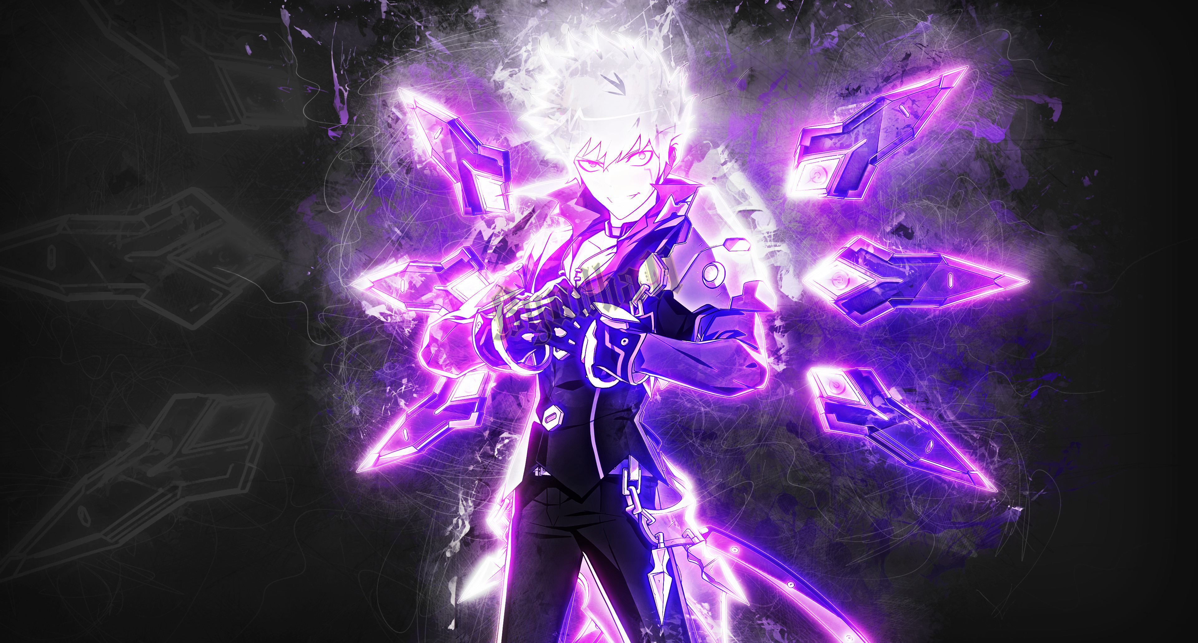 3840x2060 ... Add - Lunatic Psyker (Elsword) by Byudha11