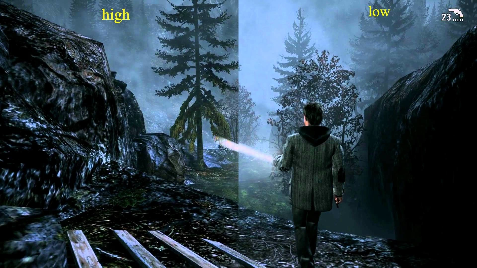 1920x1080 Alan Wake: High Vs Low (HD/PC) 1080p