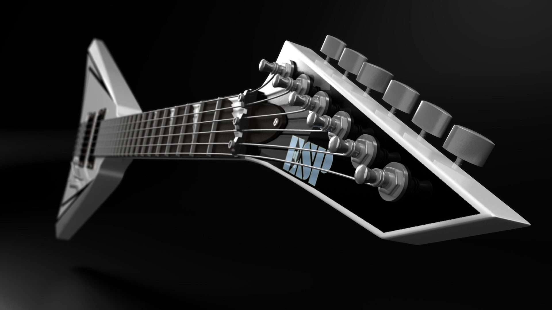 1920x1080 Preview wallpaper guitar, strings, esp, background, settings