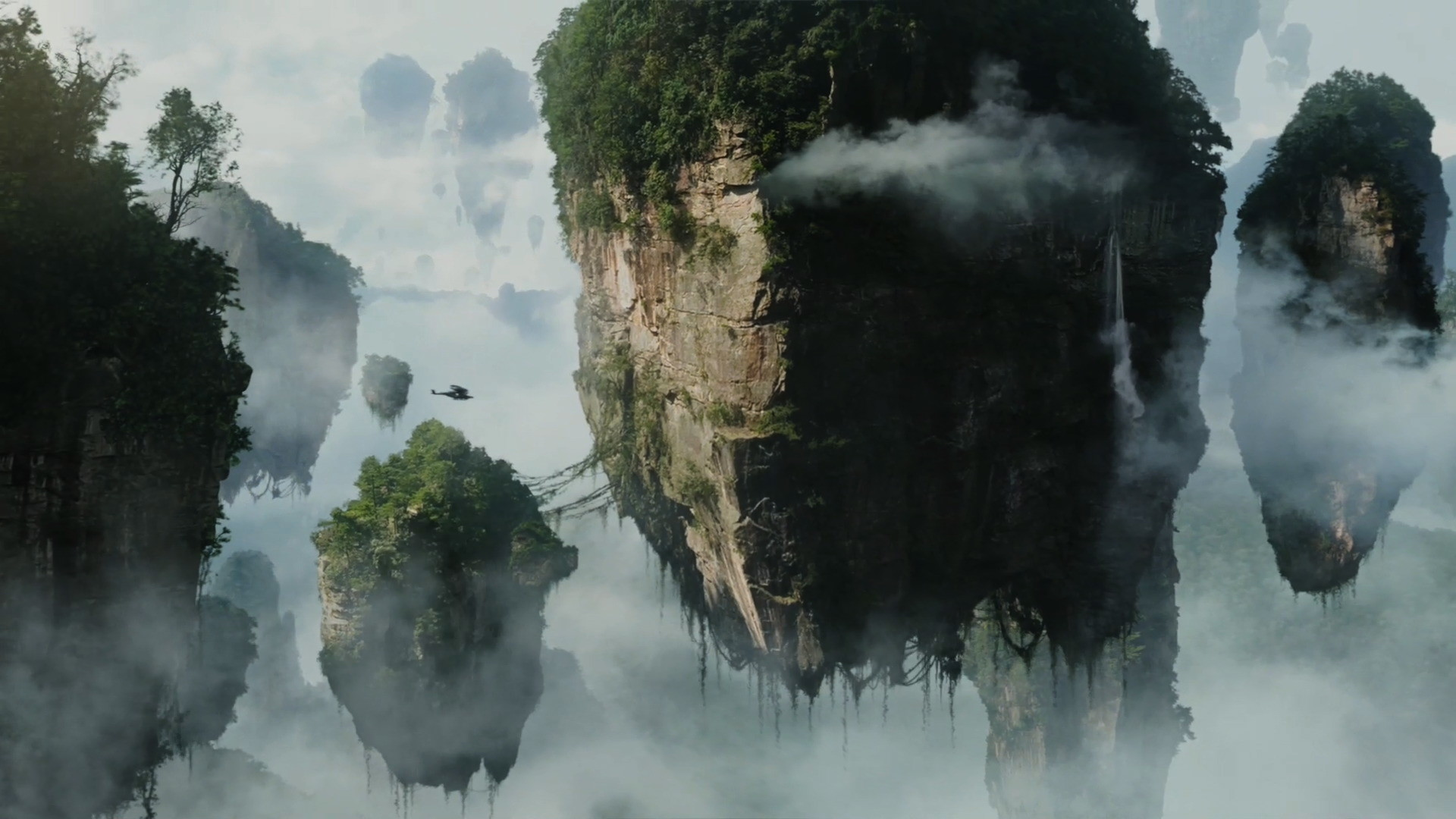 1920x1080 Floating Islands in the Mist on Pandora from Avatar wallpaper - Click  picture for high resolution HD wallpaper