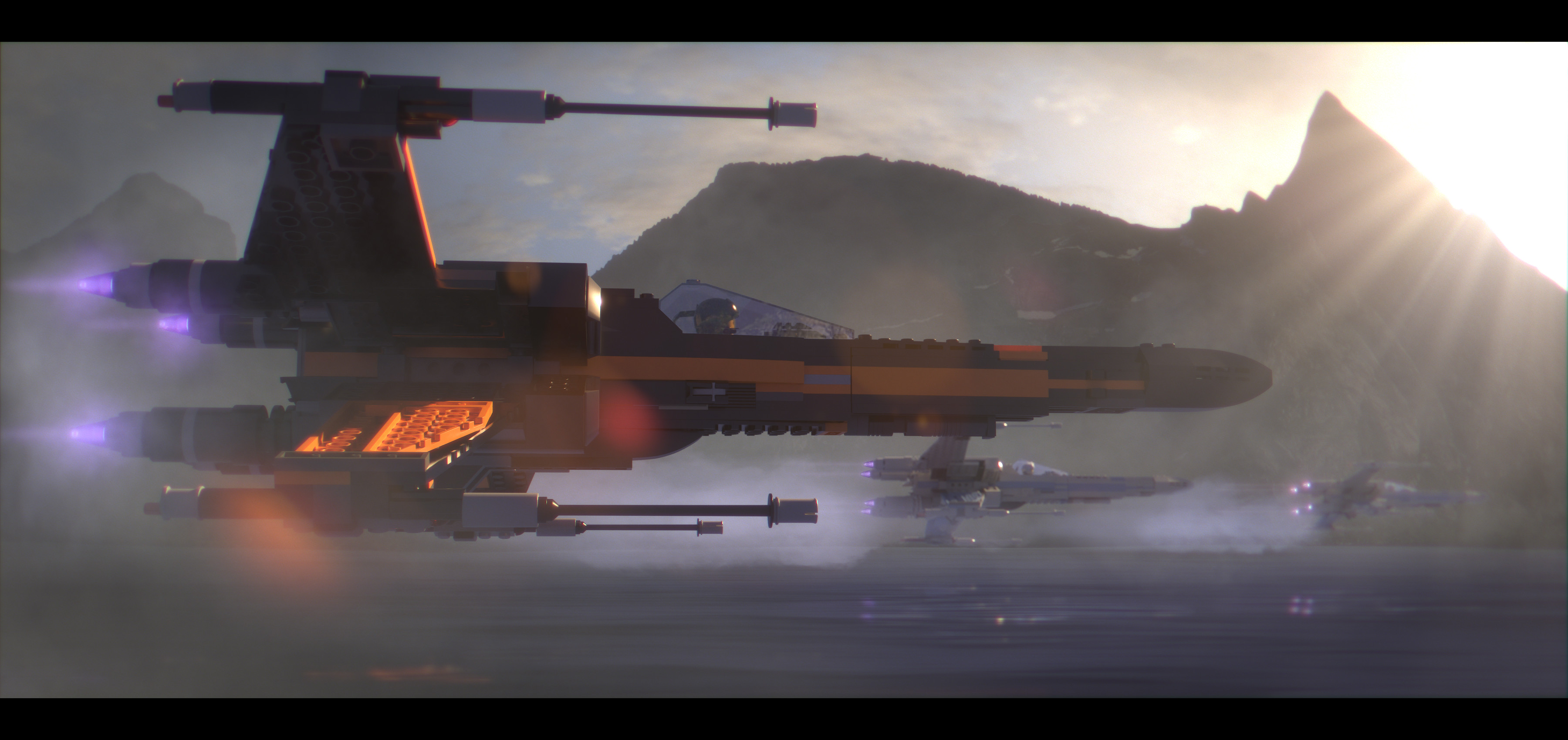 3600x1700 General  Star Wars LEGO Star Wars X-wing spaceship LEGO LEGO Star  Wars The