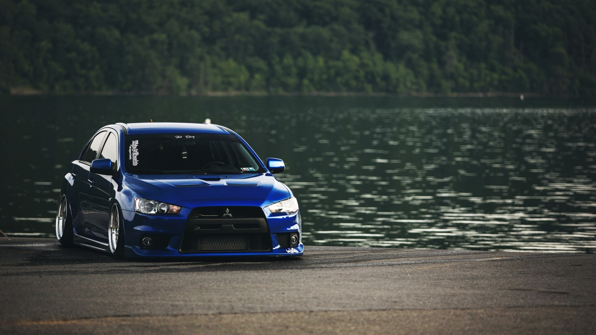 1920x1080 Mistubishi Mitsubishi Mitsubishi Lancer Evolution X cars lakes wallpaper  (#3032032) / Wallbase.