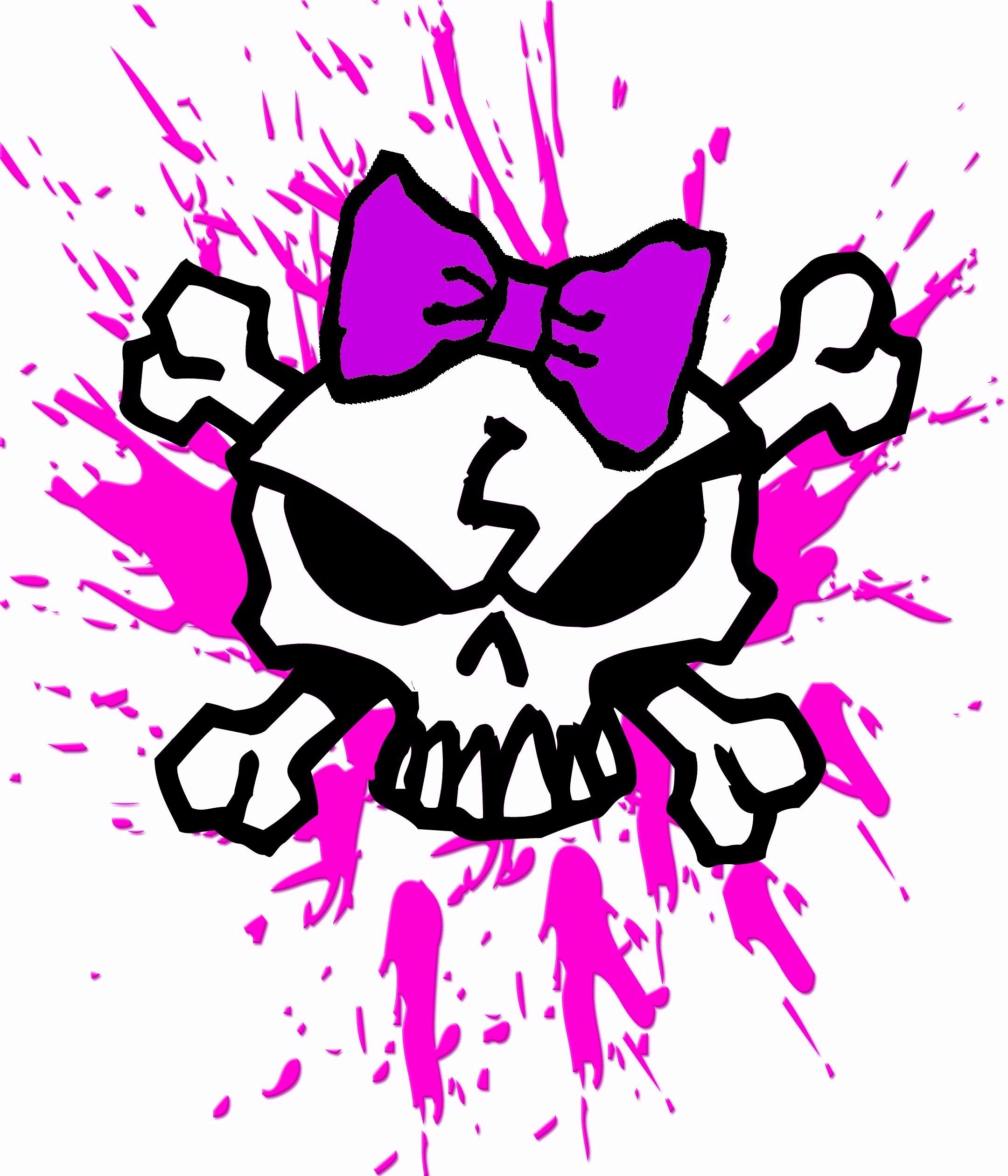 2160x2520 GIRLY SKULL WITH BOW AND PINK BLOOD SPLATTERS, GIRL SKULL T-Shirt .