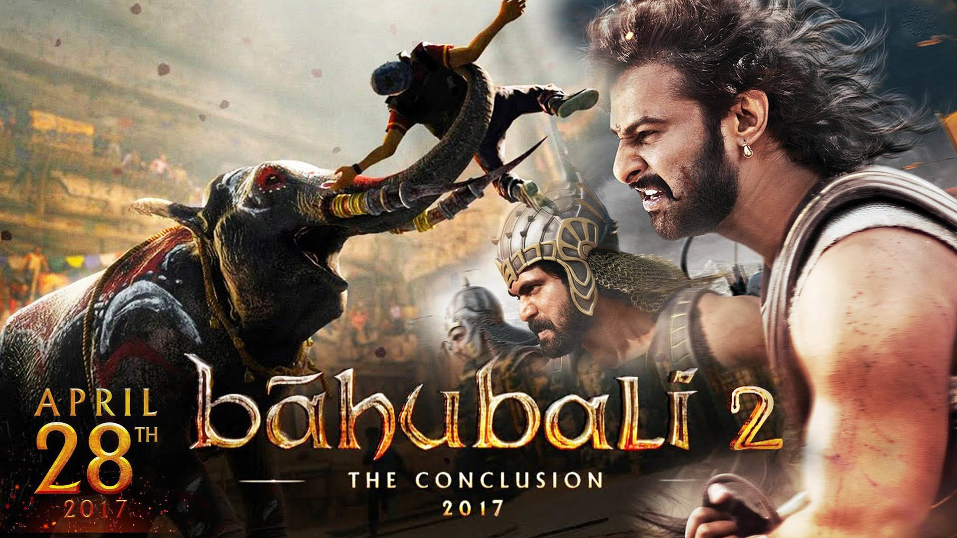 1920x1080 28 April 2017 bahubali 2 the conclusio releasing date hd wallpaper. Â«Â«