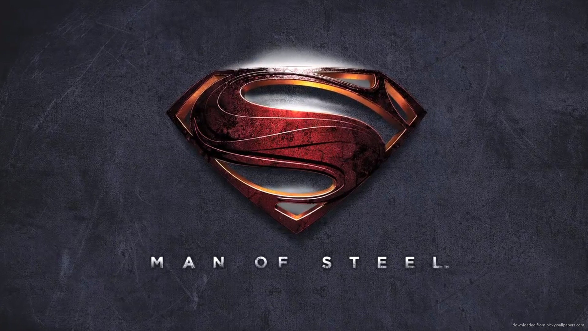 1920x1080 Man Of Steel Logo for