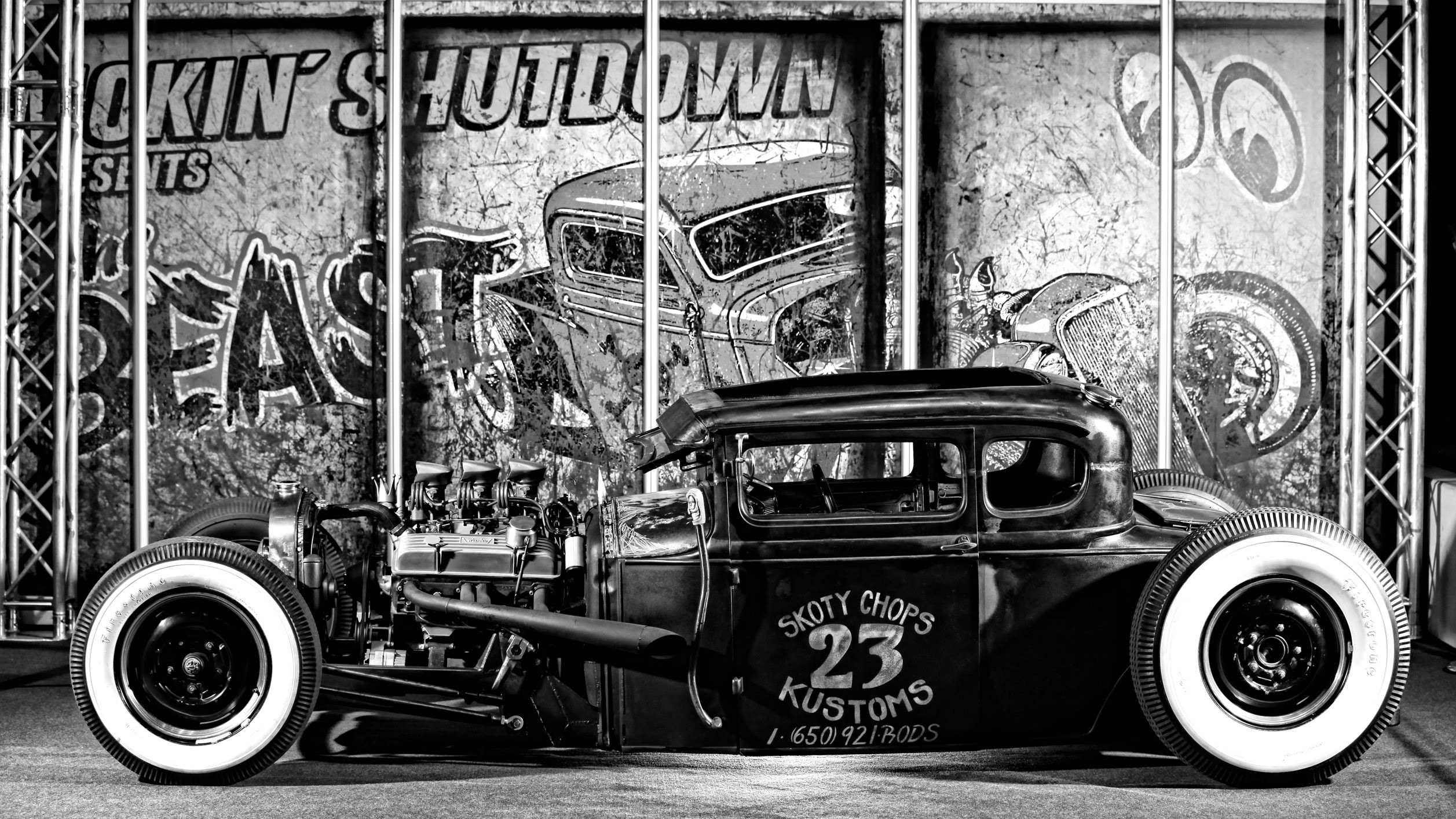 2514x1414 1930 Ford Five Model A, Smokin' Shutdown's Hot Rod Sonderausstellung –  Essen Motorshow
