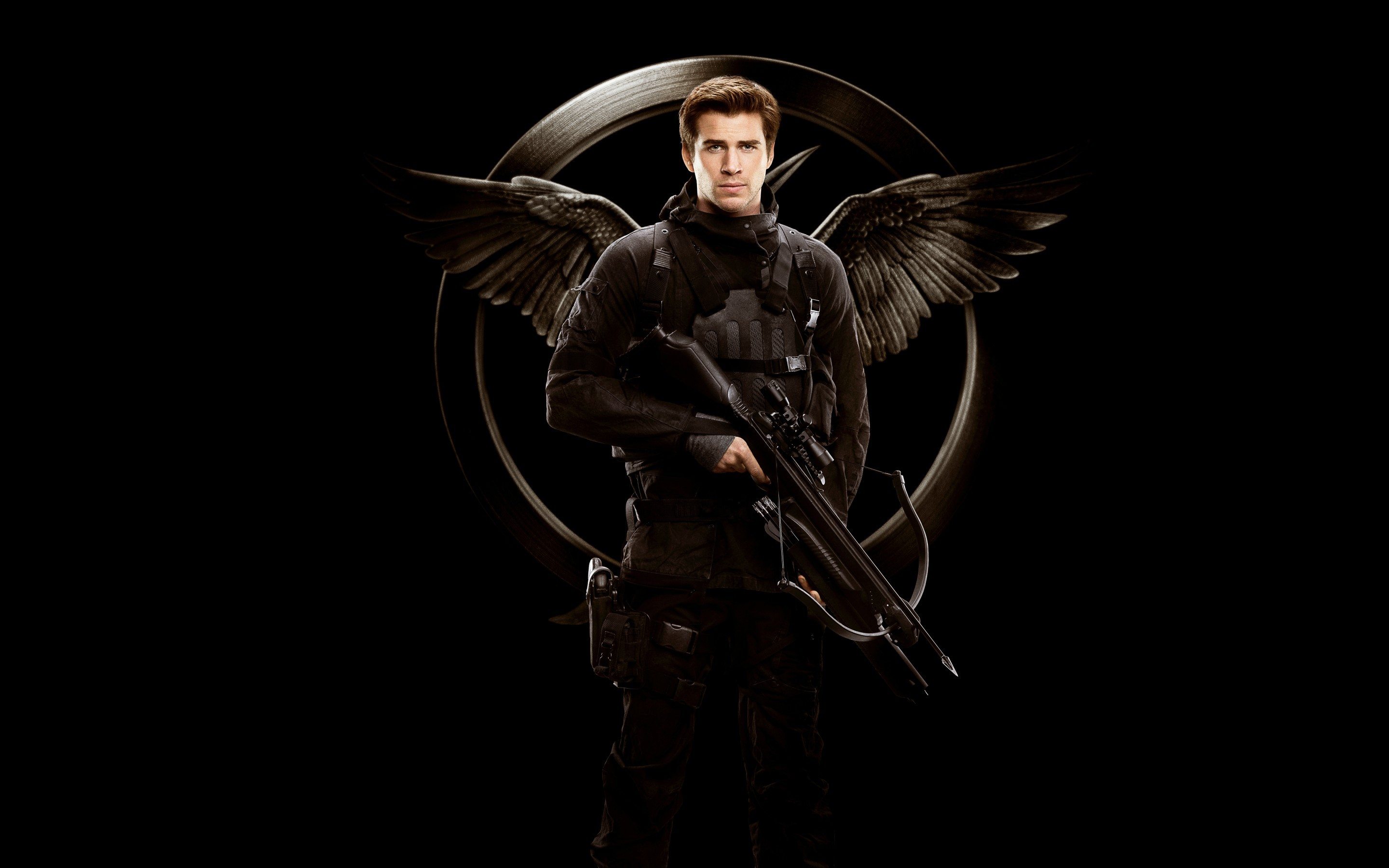 2880x1800 The Hunger Games Liam Hemsworth Gale Hawthorne Mockingjay Wallpaper