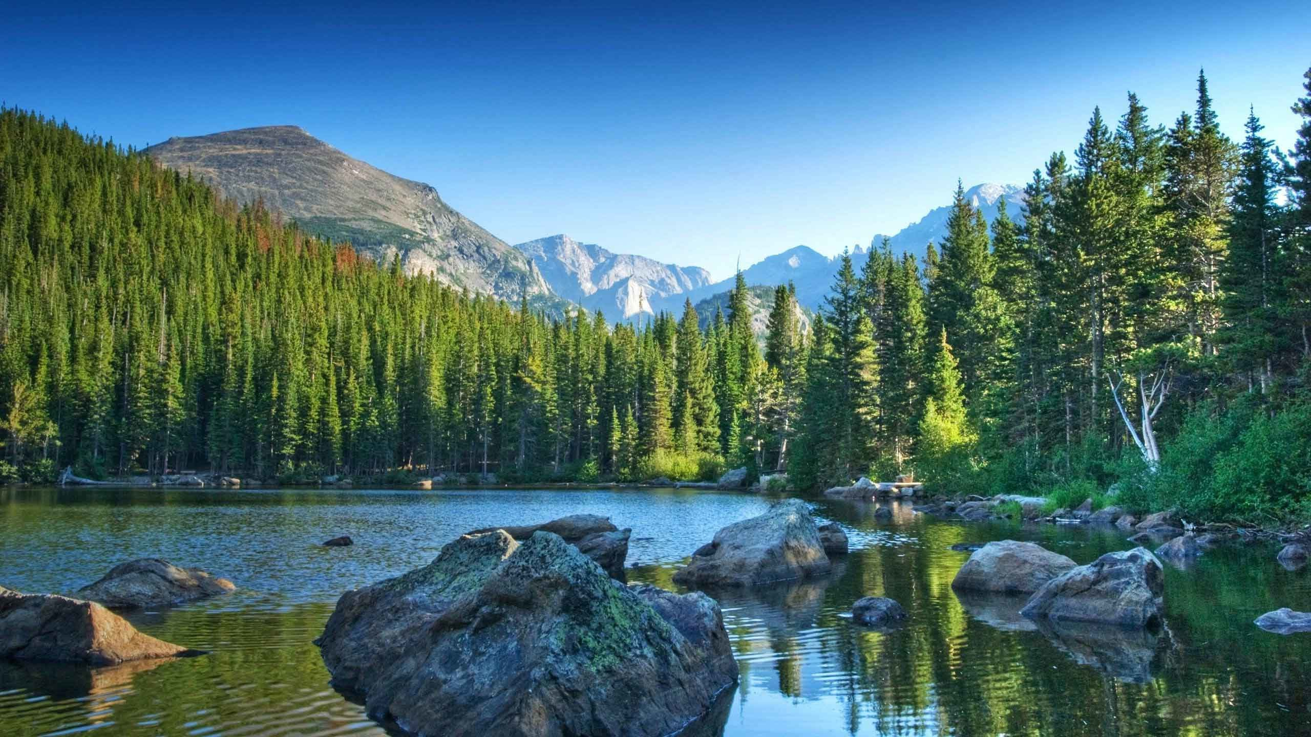 2560x1440 Lakes Landscape Mountain Mountains Nature Wallpaper Picture
