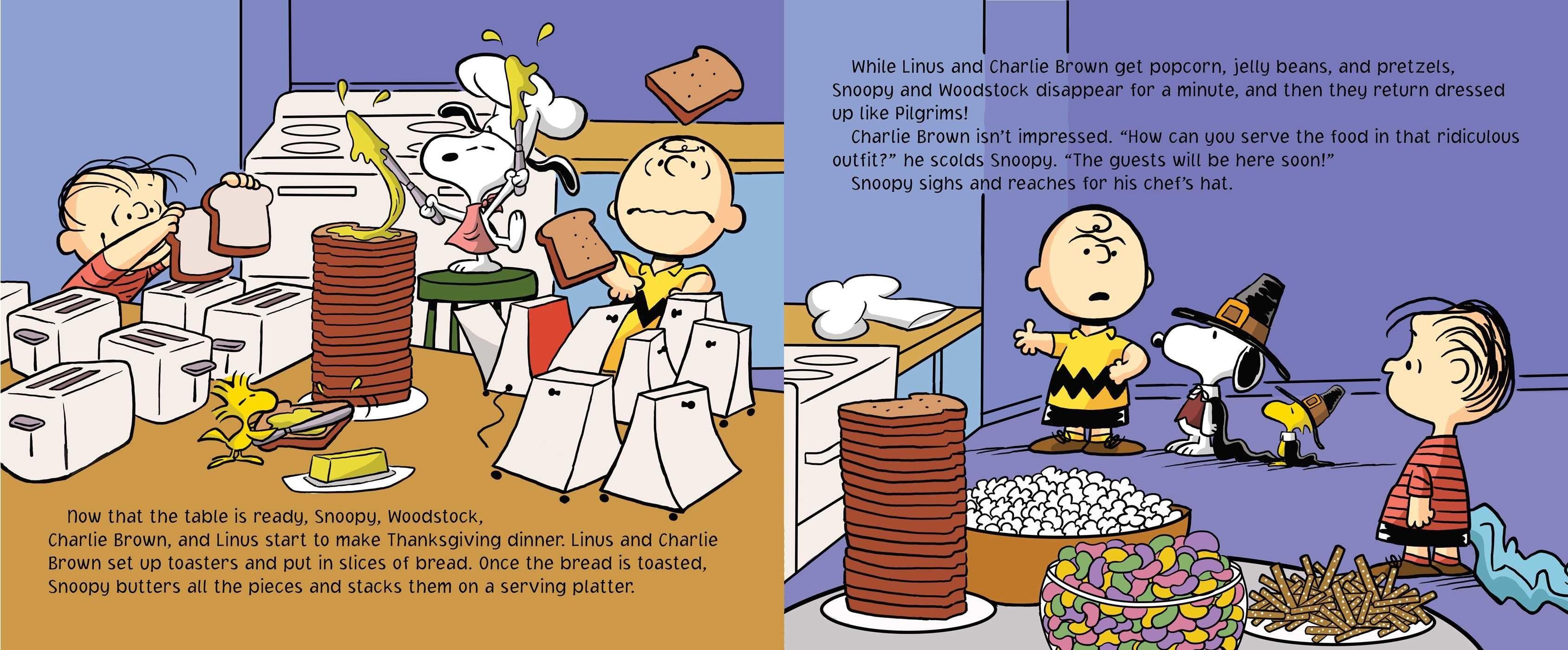 1920x1200 Snoopy Peanuts Thanksgiving Wallpaper
