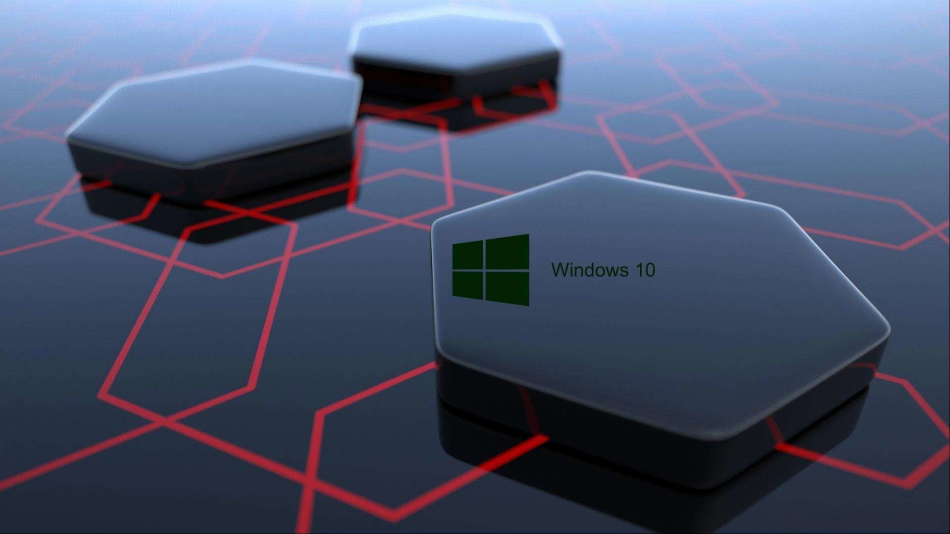 1920x1080 Windows 10 Wallpaper HD 3D for Desktop Black