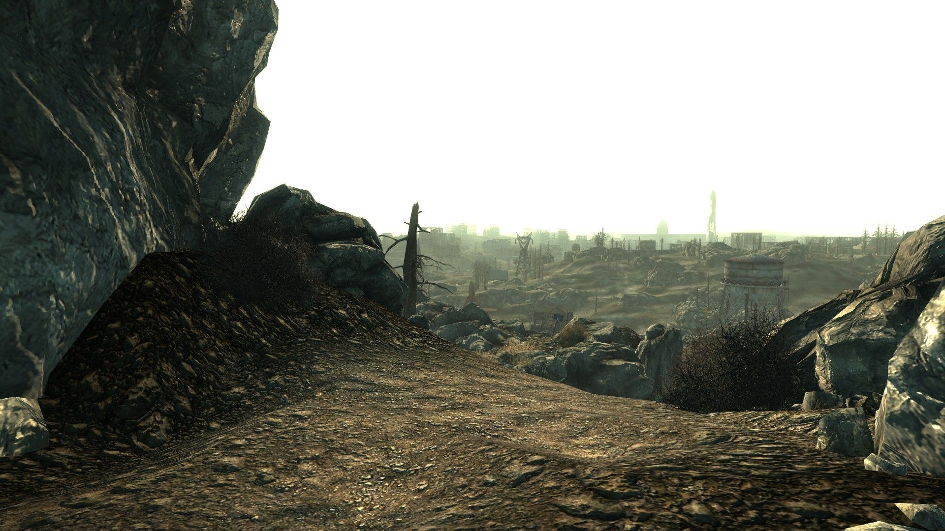 1920x1080 Fallout 3 Screenshot. The Background