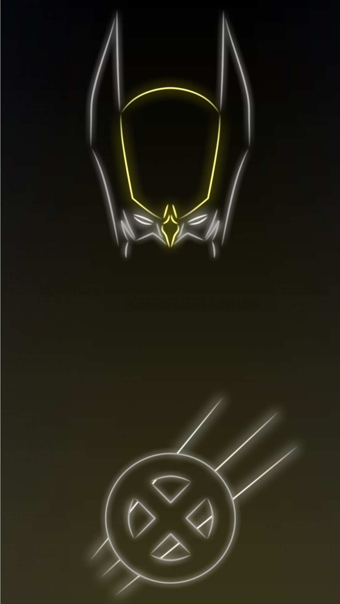 1080x1920 Wolverine-Tap-to-see-more-Superheroes-Glow-With-Neon-Light-Apple-iPhone -s-Plus-HD-back-wallpaper-wpt70010307