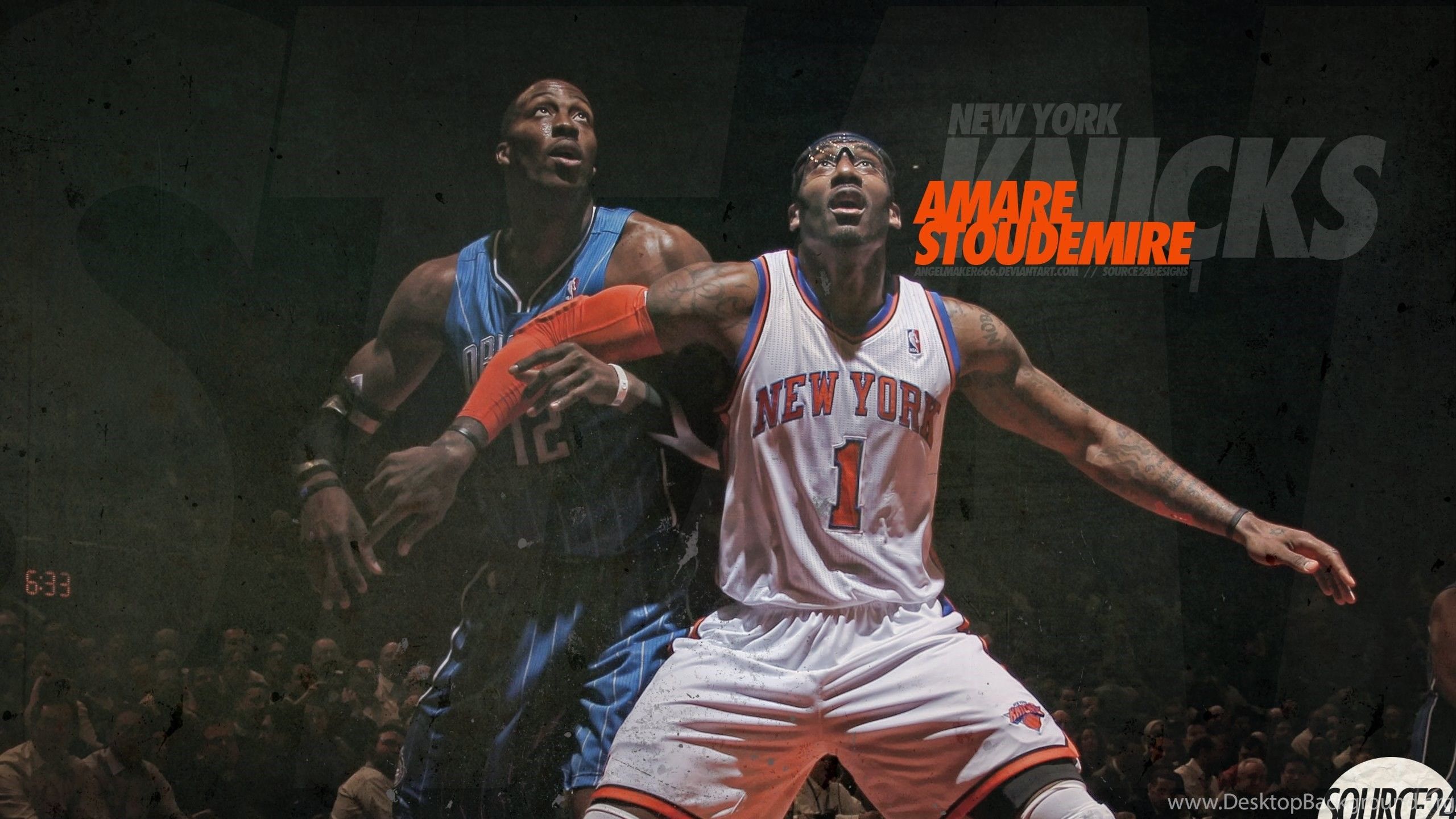 2560x1440 Melo New Knicks Wallpapers Streetball Source · Amare Stoudemire And Carmelo  Anthony Wallpapers Desktop Background