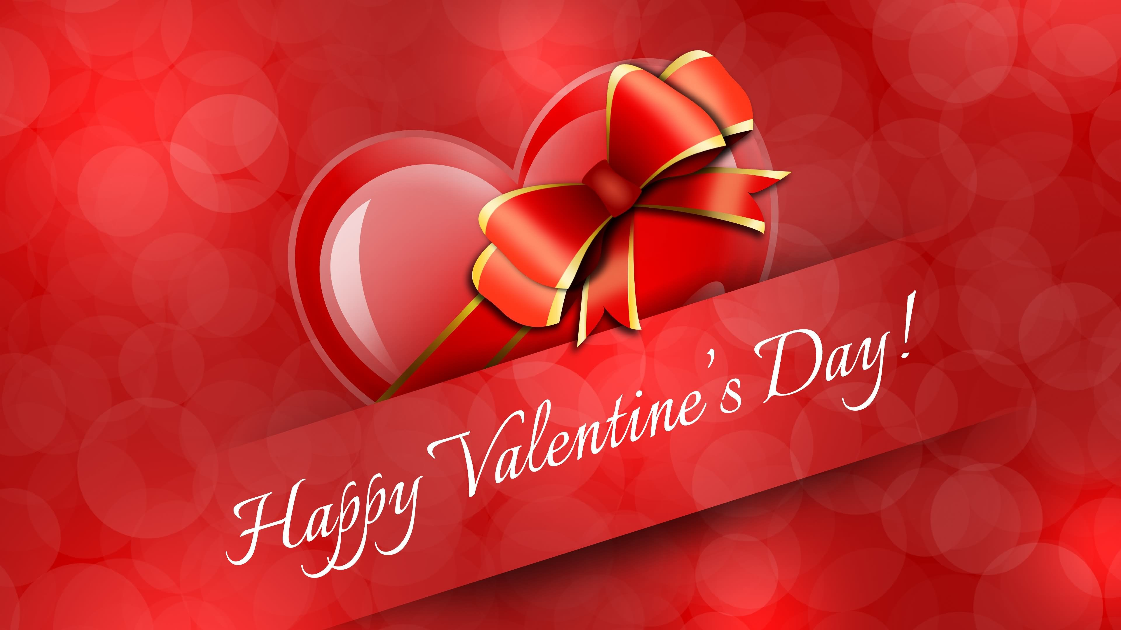 3840x2160 Happy Valentines Day HD Wallpaper Image