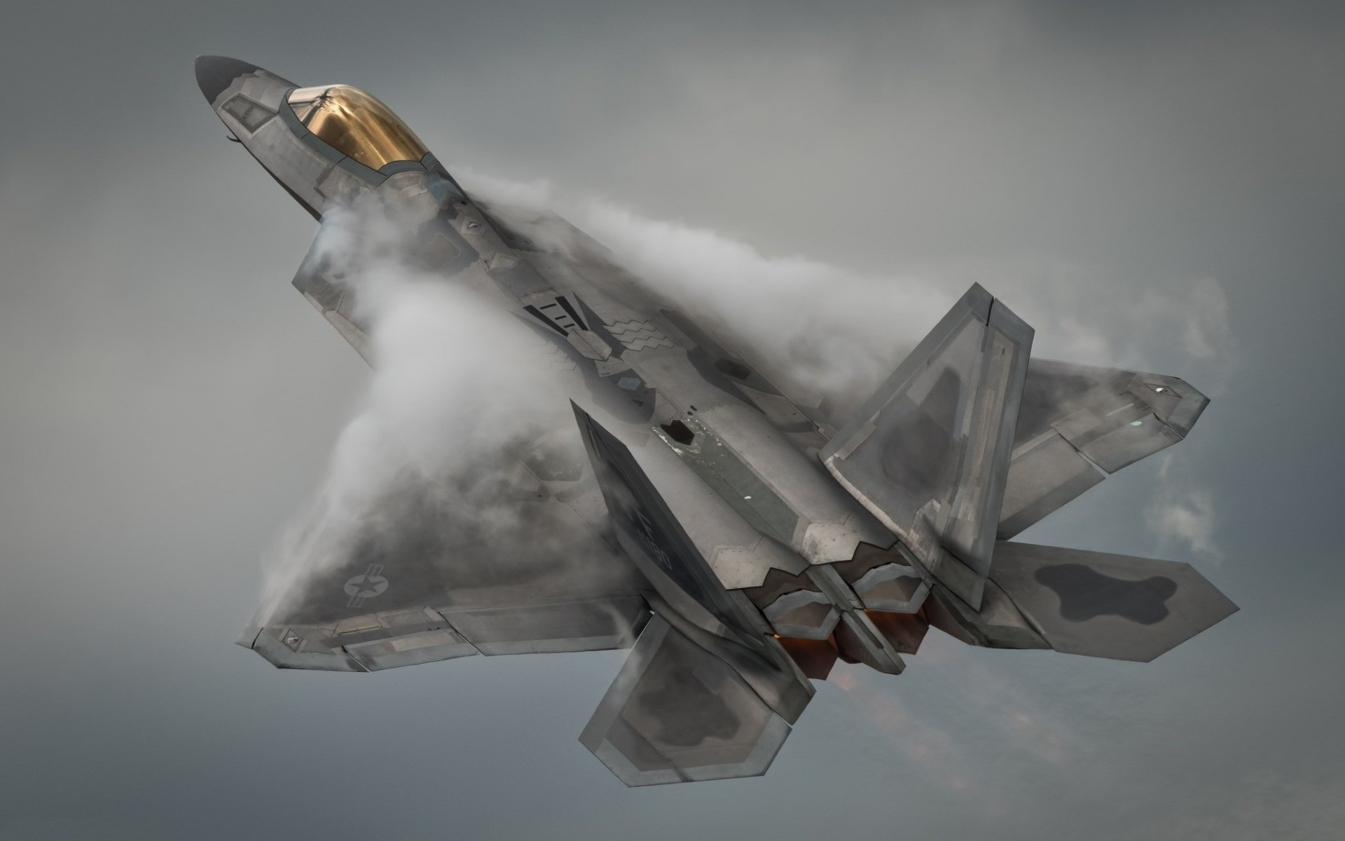 1920x1200 Lockheed Martin F-22A Raptor, F-22, US Air Force, fifth