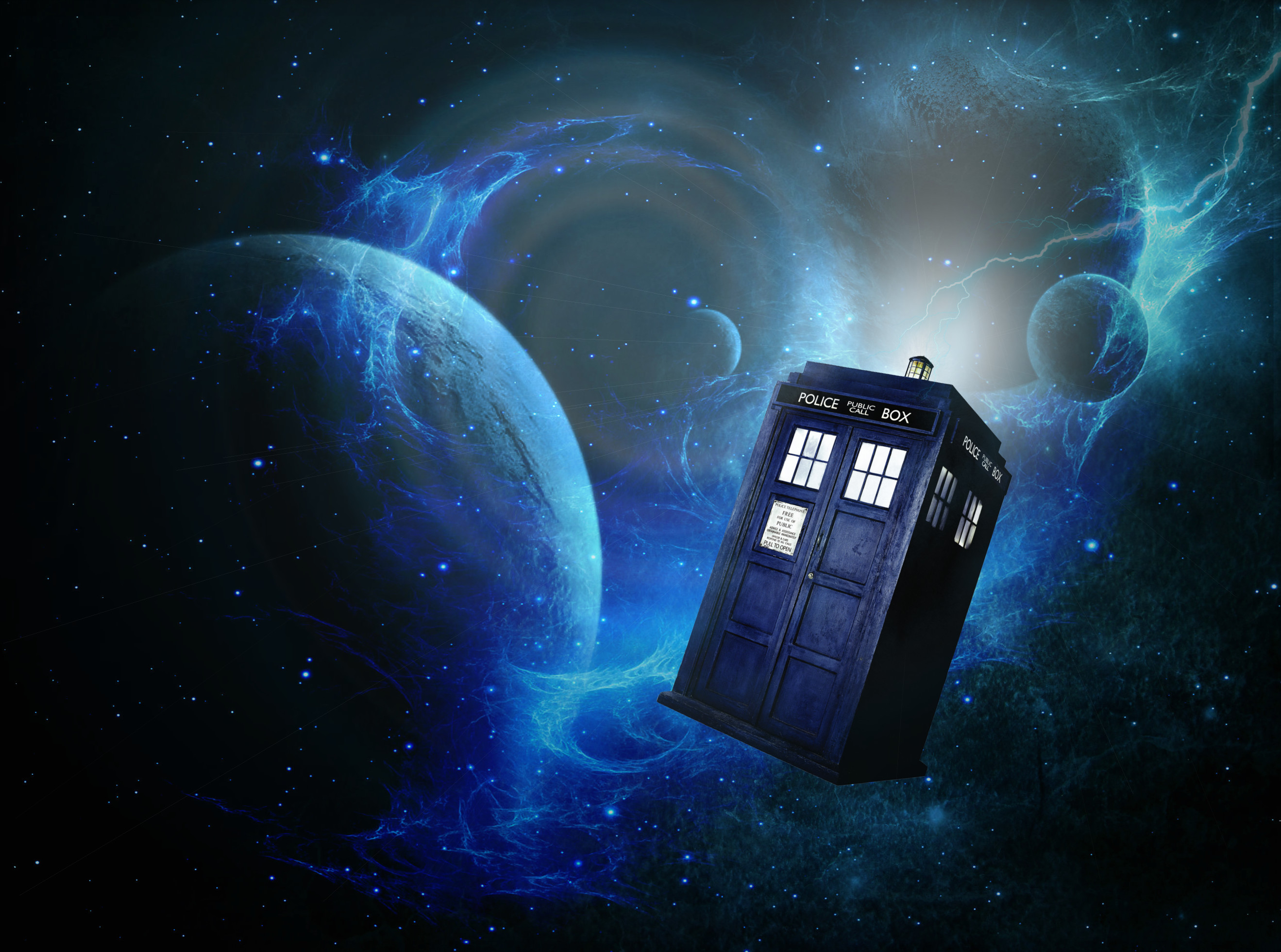 2638x1960 Doctor Who Wallpaper Tardis In Space 1