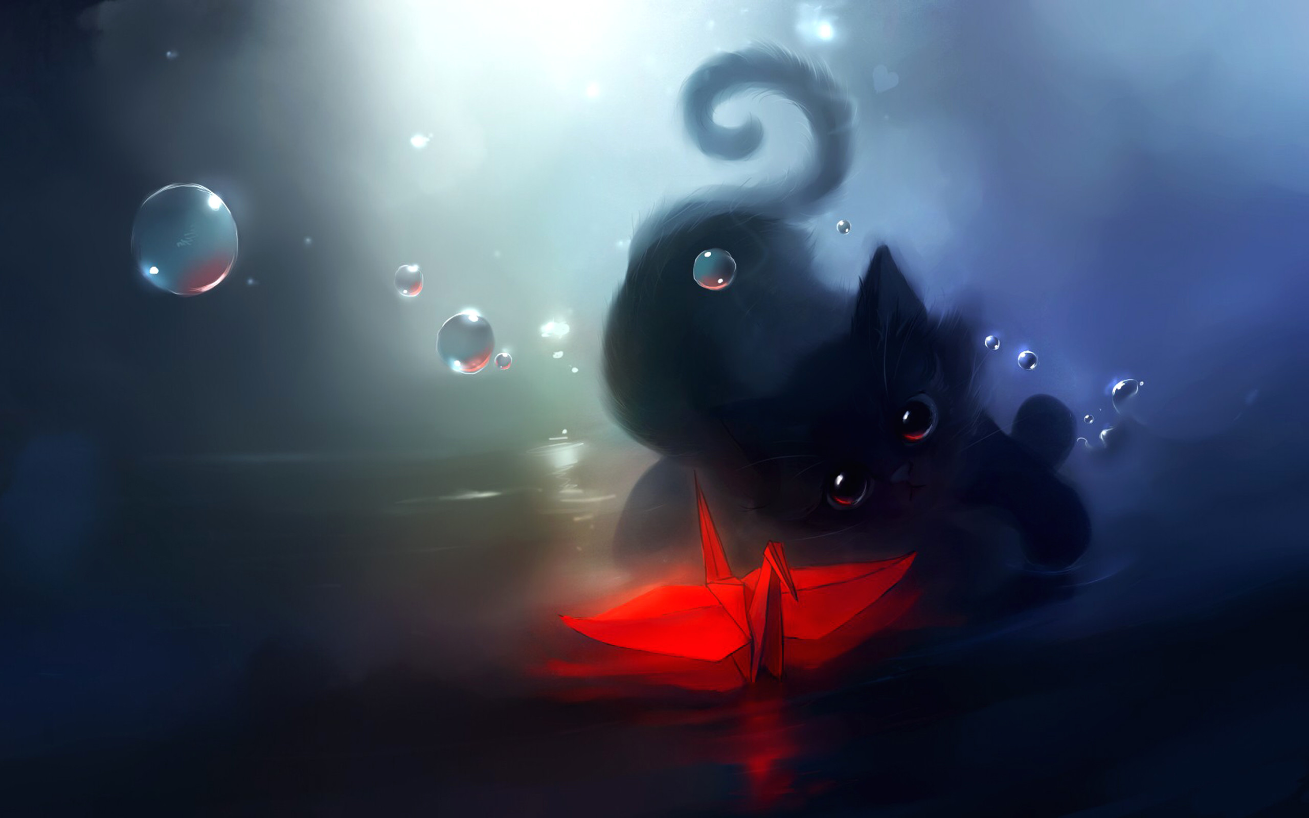 Neon Warrior Cats Wallpaper Bluestar